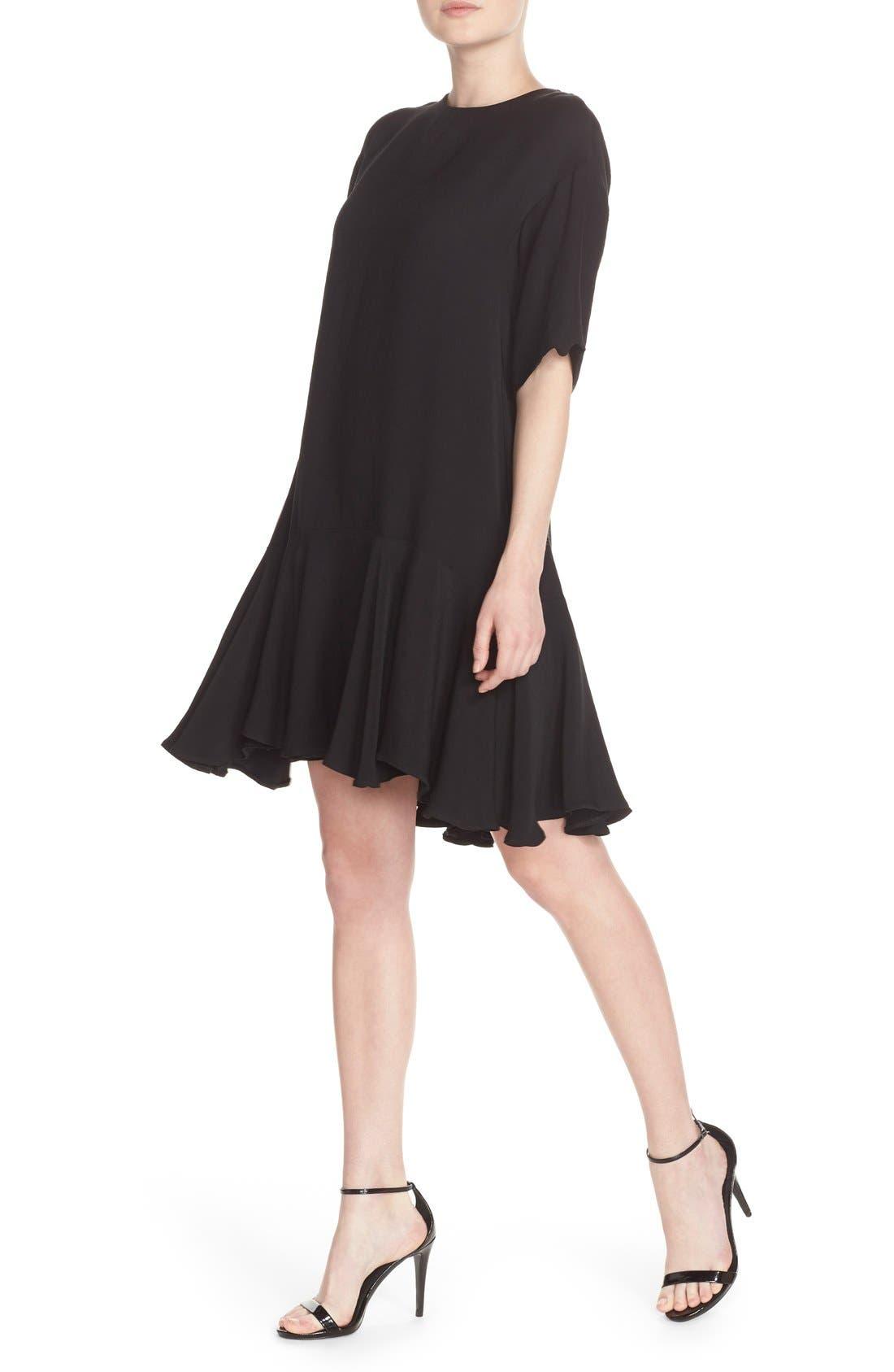 Drop Waist Knit Dress,                             Alternate thumbnail 4, color,