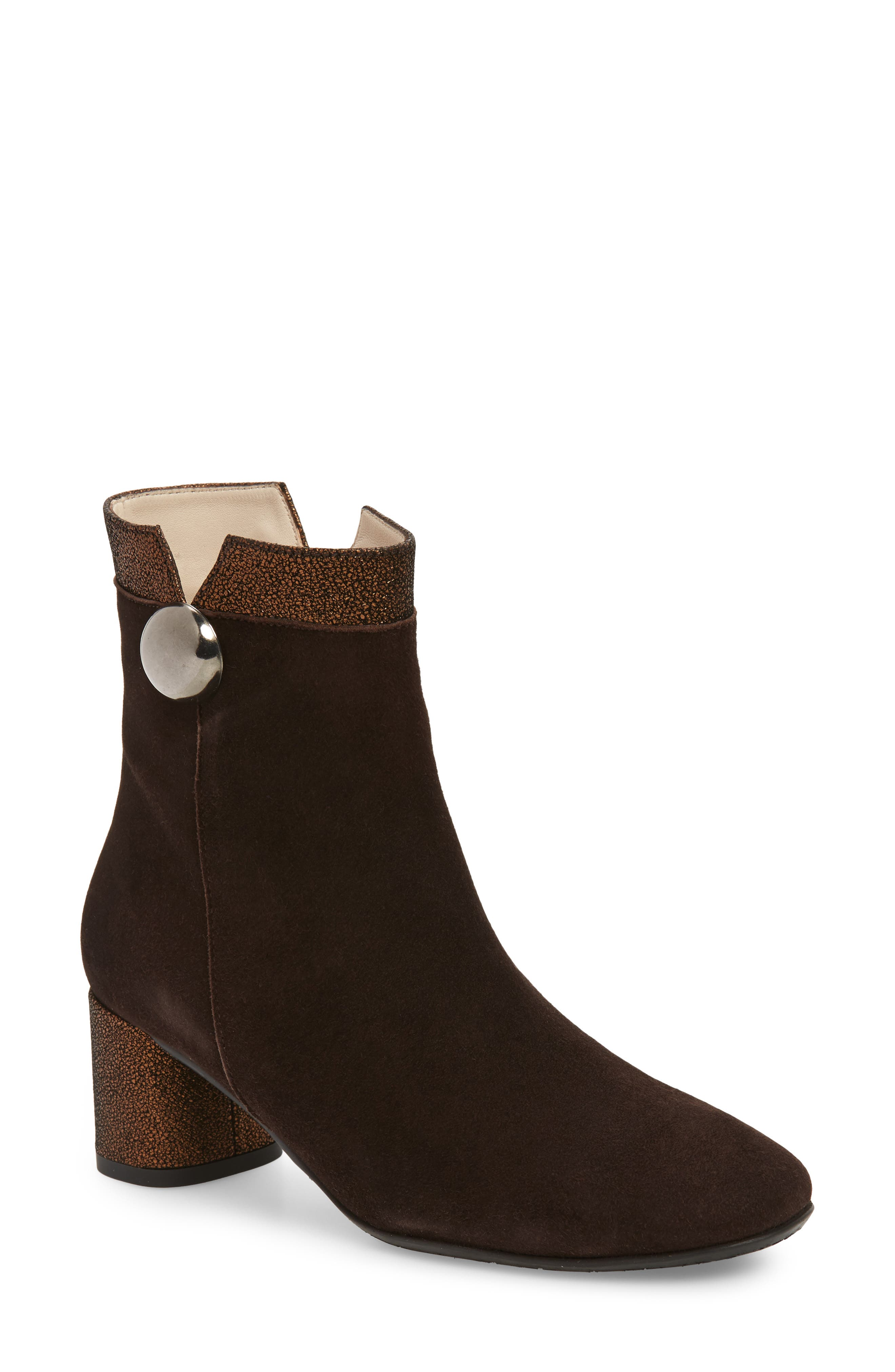 AMALFI BY RANGONI Rosato Bootie in Brown Suede