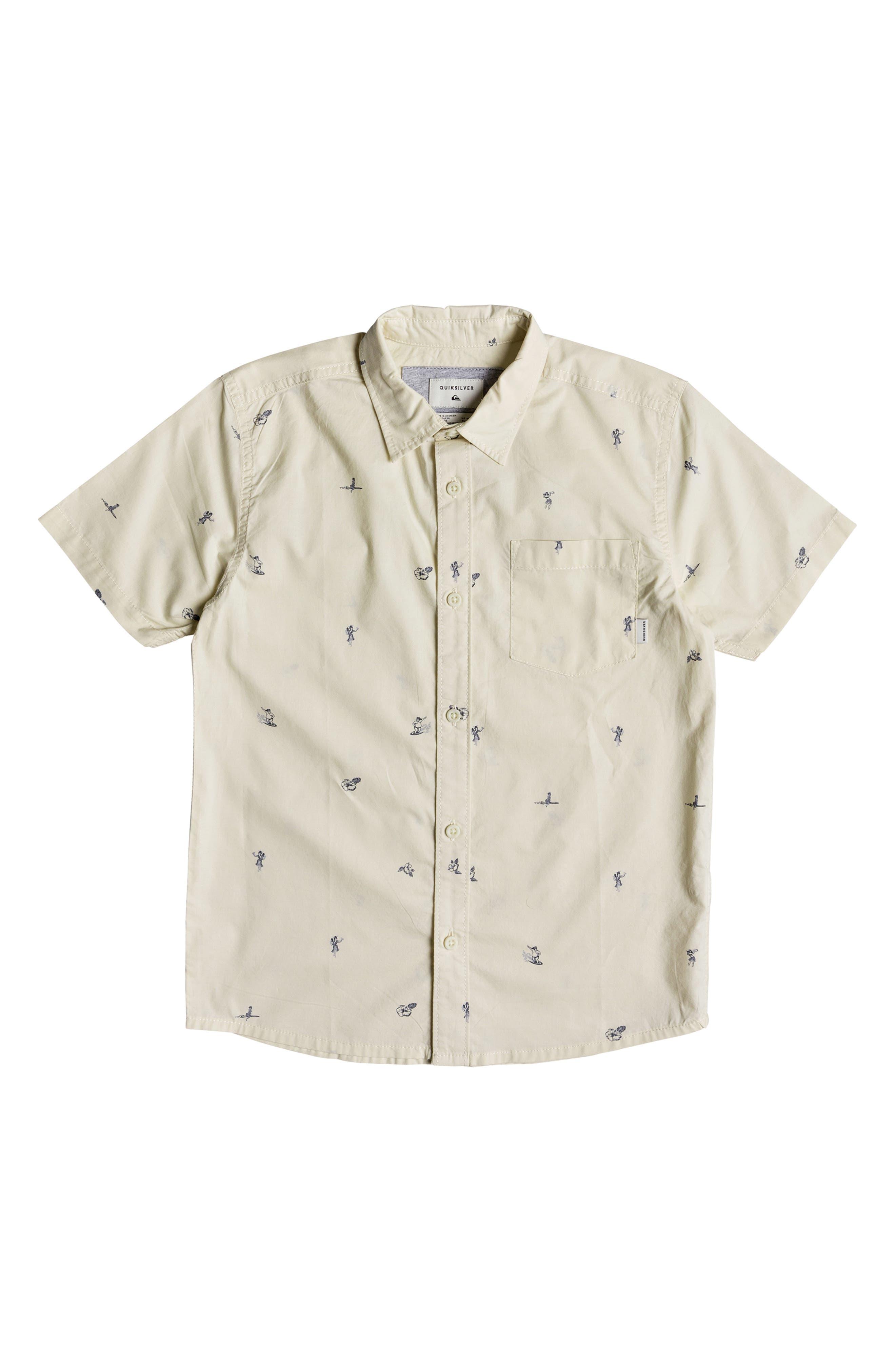 Mini Kamakura Woven Shirt, Main, color, BIRCH