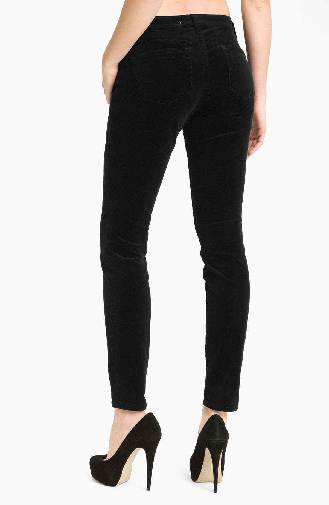 Skinny Stretch Corduroy Pants,                             Alternate thumbnail 2, color,                             002