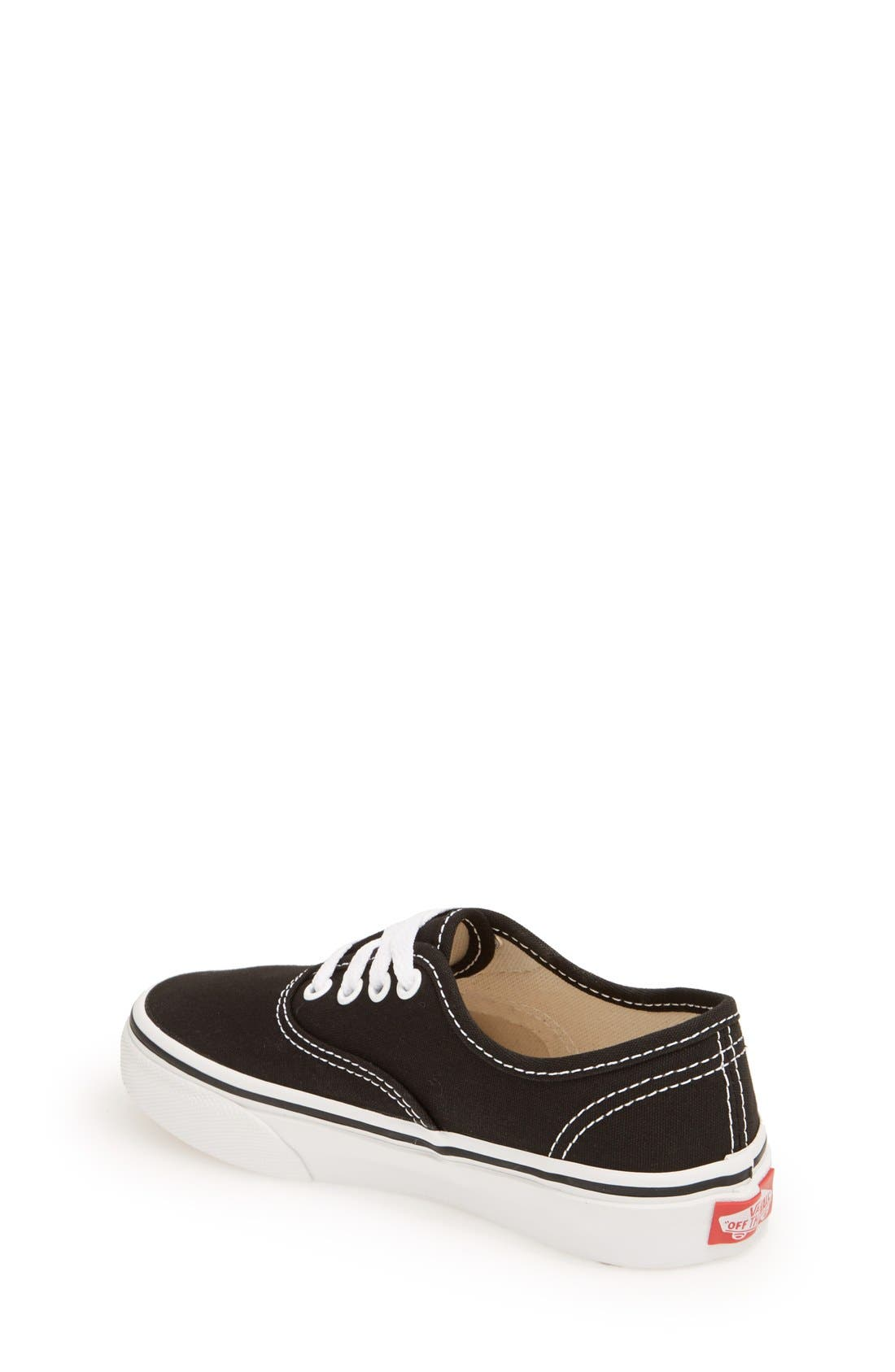 'Authentic' Sneaker,                             Alternate thumbnail 8, color,                             BLACK/ BLACK/ BLACK
