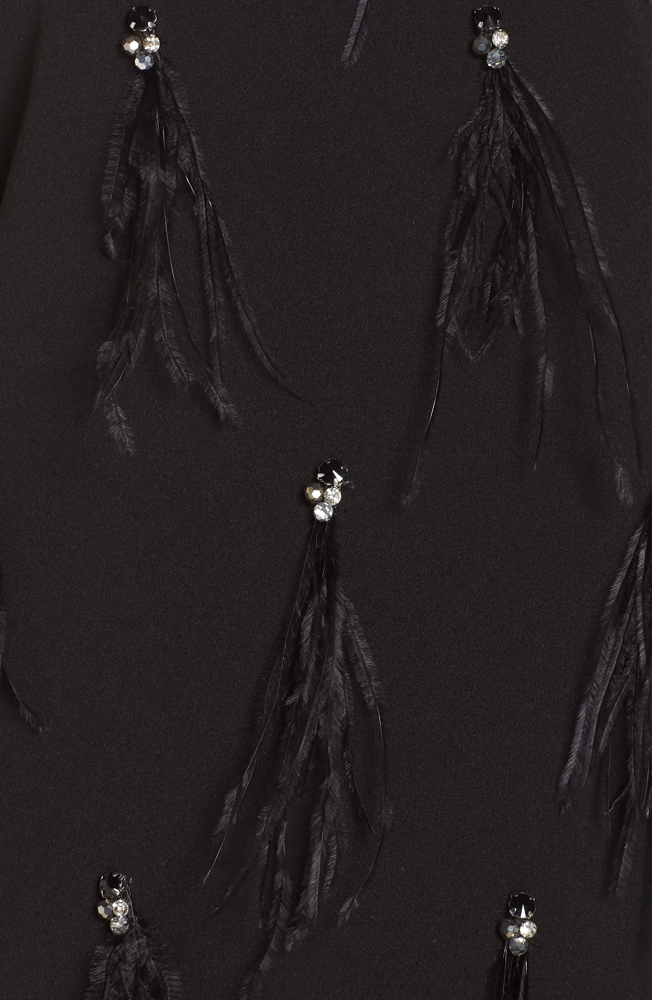 HARPER ROSE,                             Embellished Sheath Dress,                             Alternate thumbnail 6, color,                             BLACK