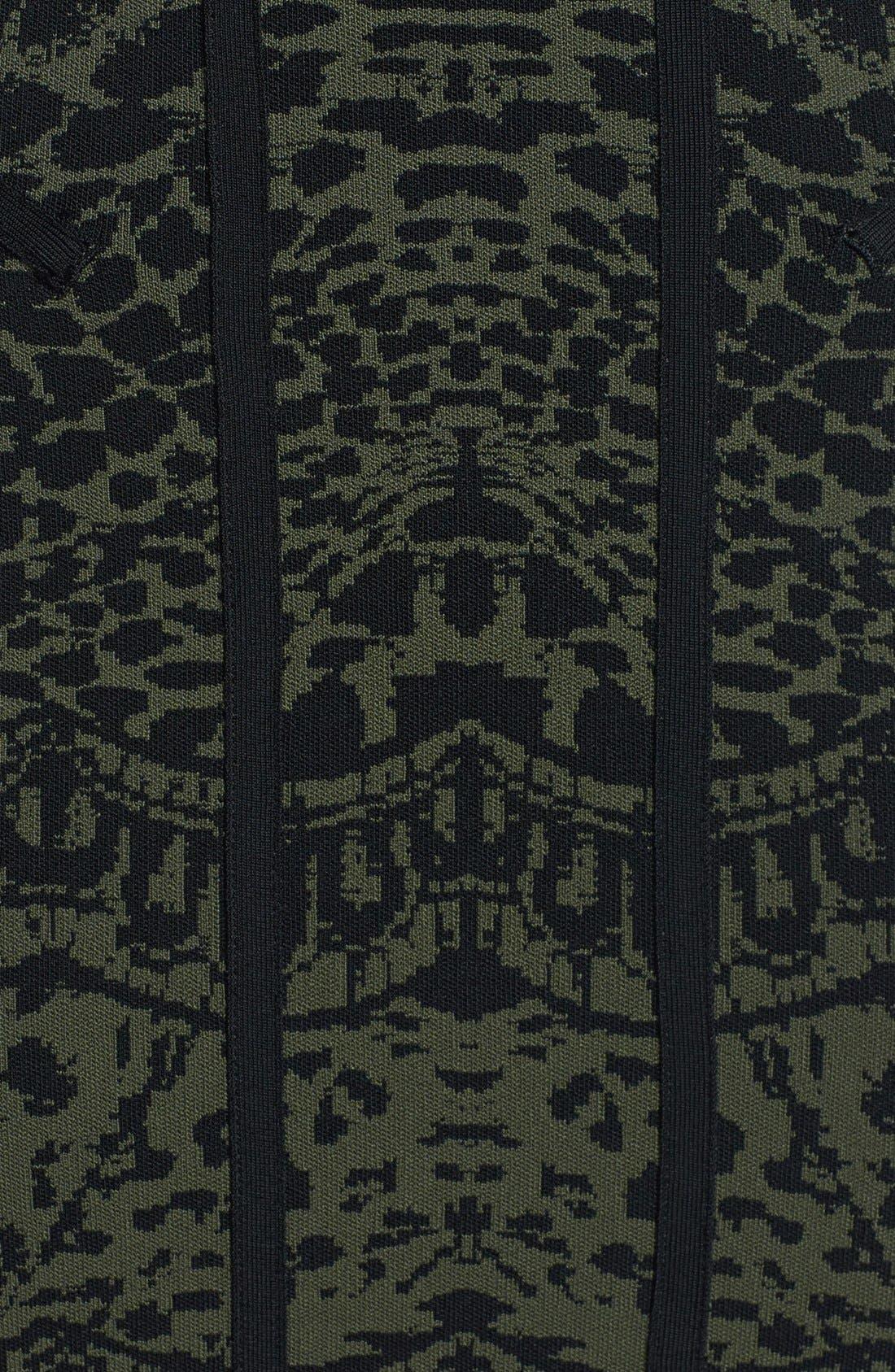 'Cairo' Print Knit Tank Dress,                             Alternate thumbnail 4, color,                             001