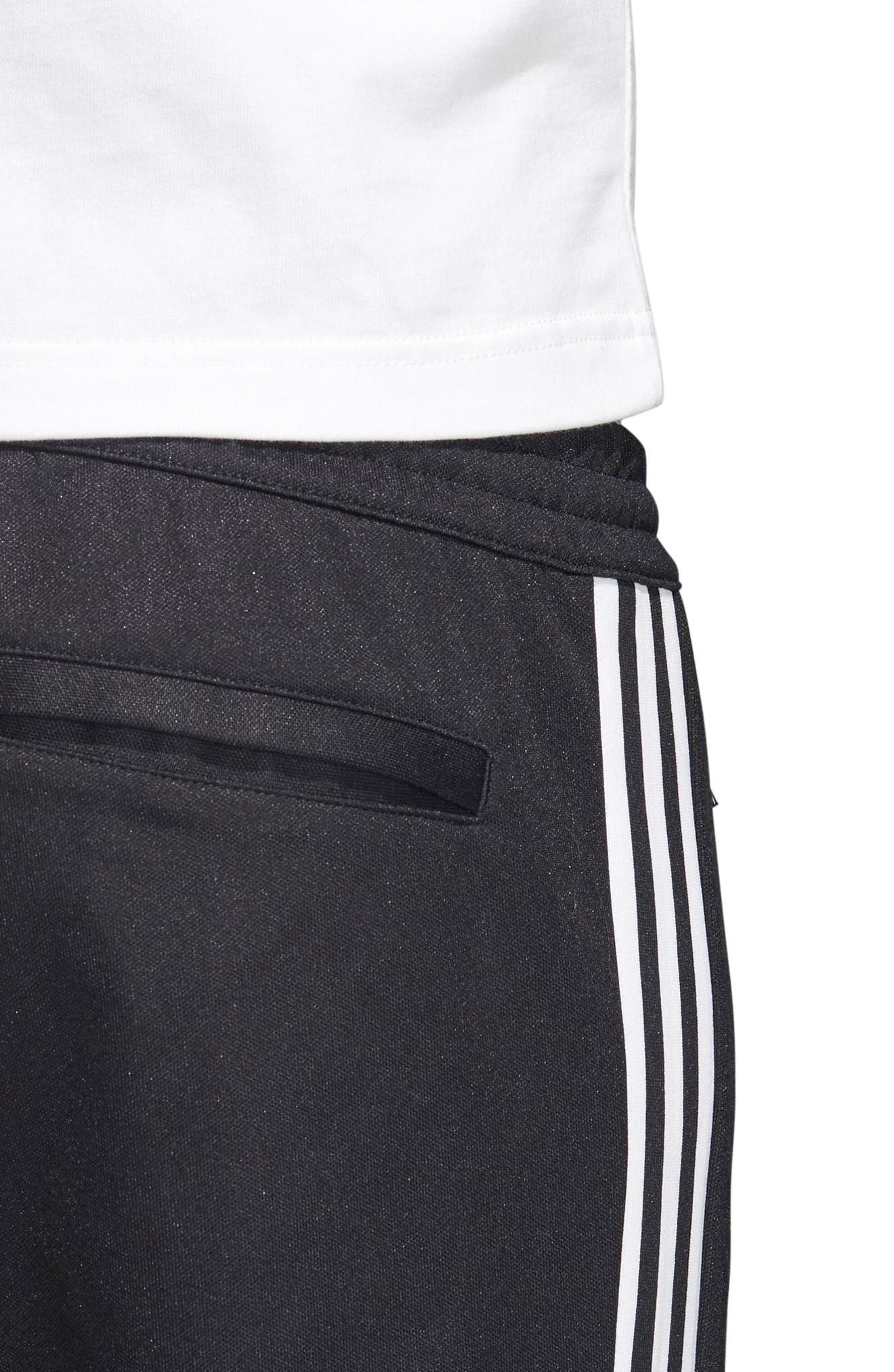 Beckenbauer Track Pants,                             Alternate thumbnail 4, color,                             BLACK/ WHITE