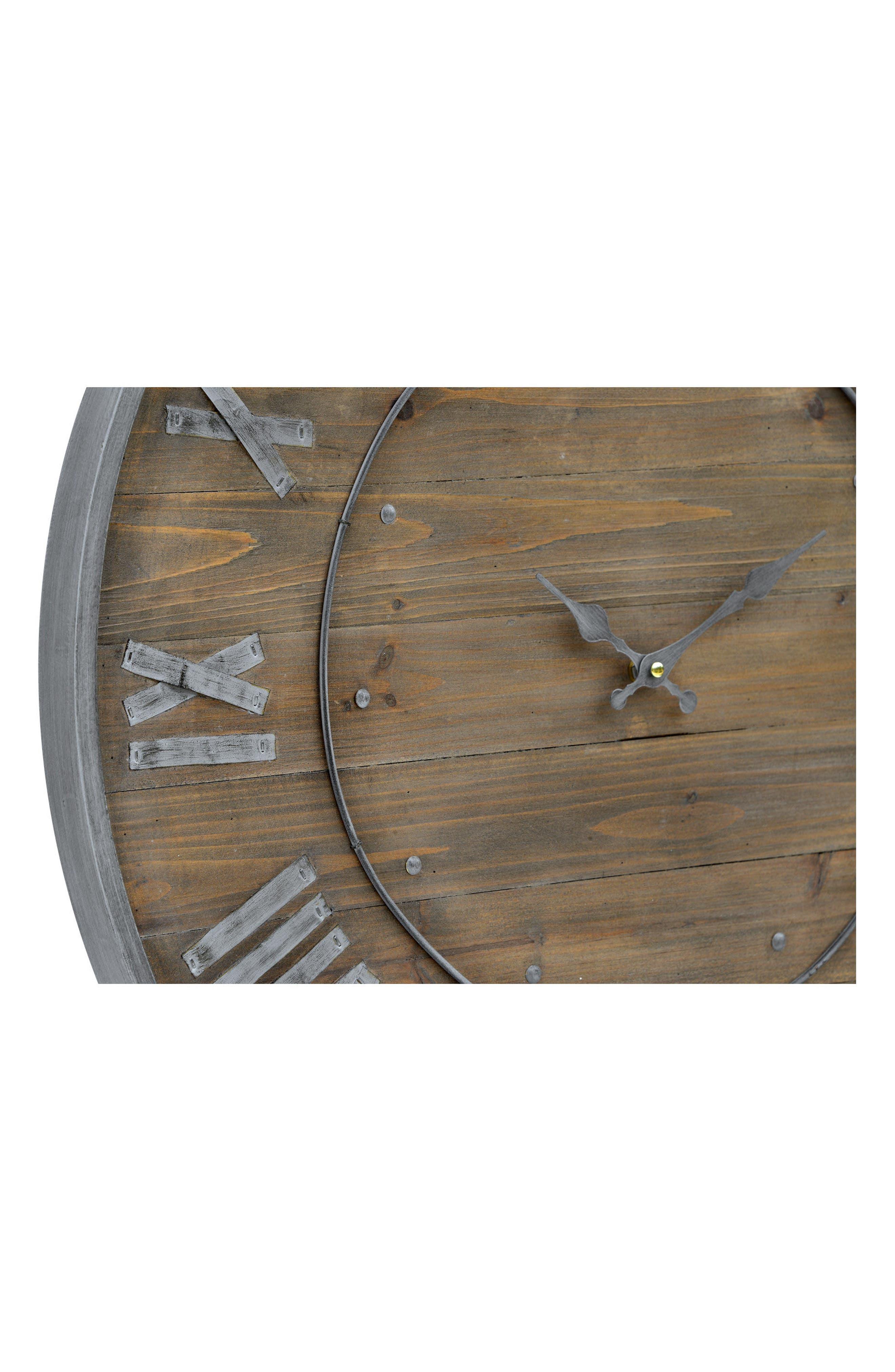 Wooden Wall Clock,                             Alternate thumbnail 2, color,                             200