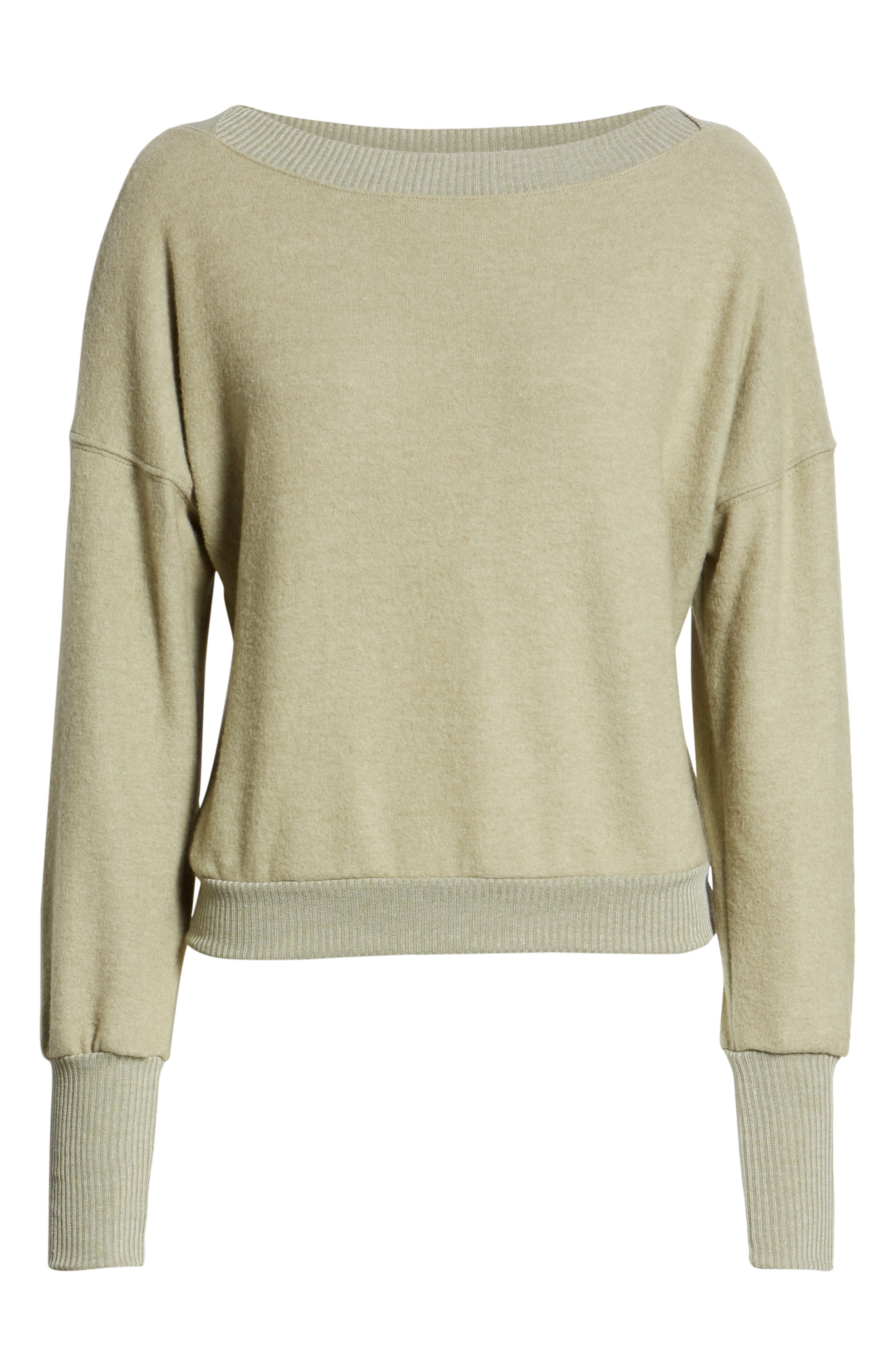 Darwin Cozy Sweatshirt,                             Alternate thumbnail 6, color,                             CAPERS
