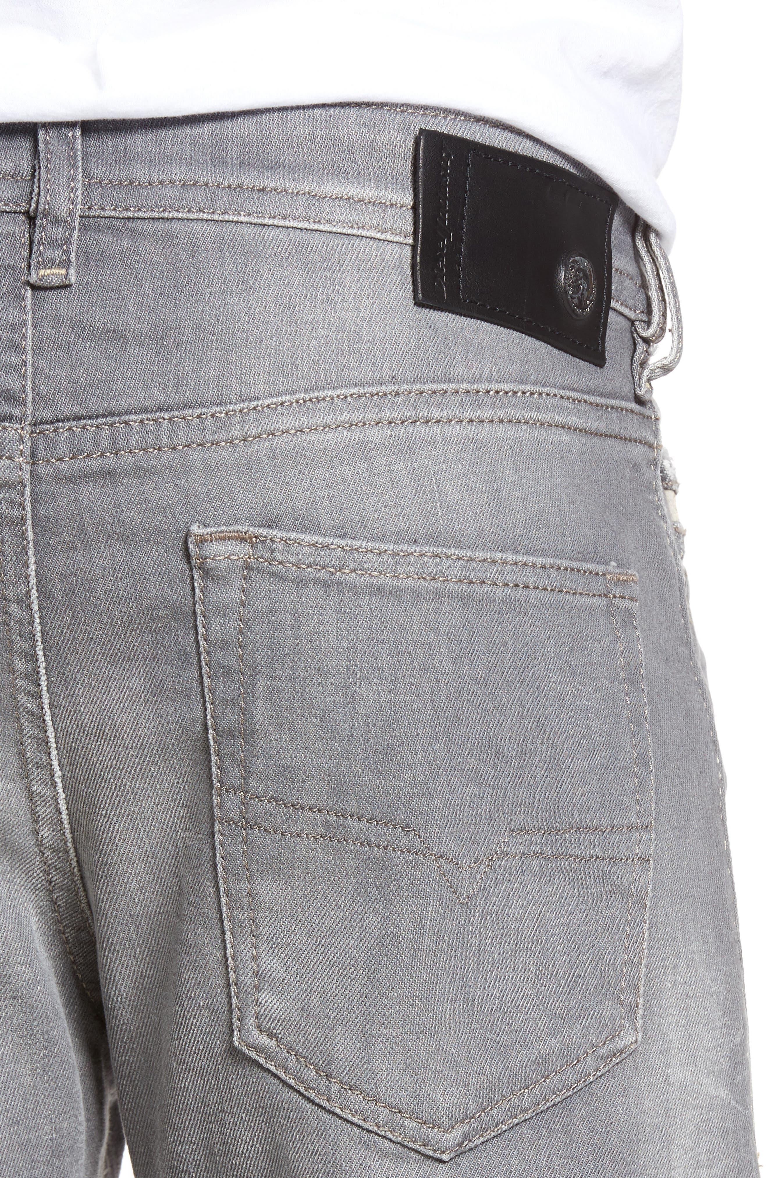 DIESEL Buster Slim Straight Leg Jeans,                             Alternate thumbnail 4, color,                             400