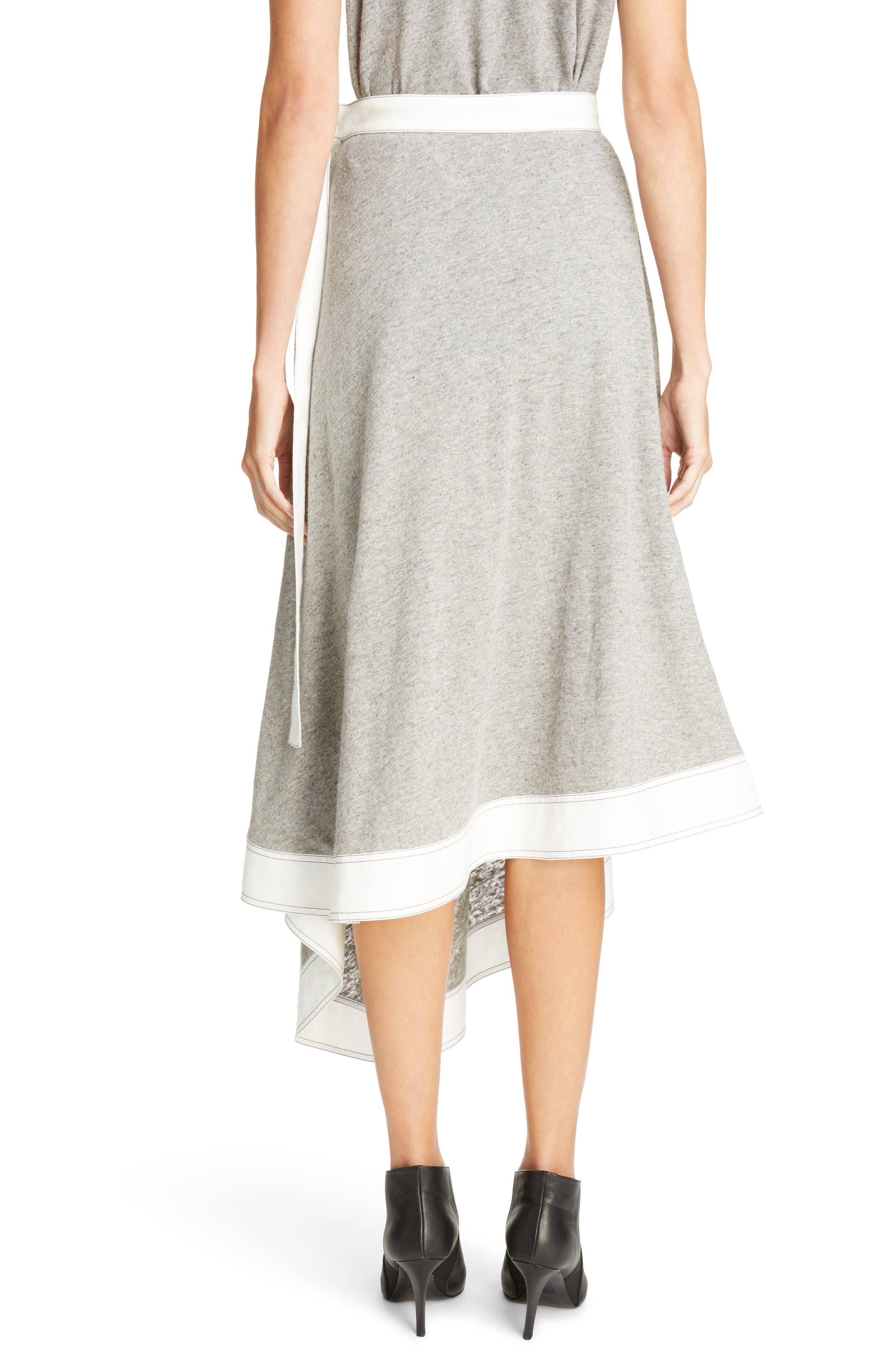 Asymmetrical Linen Blend Skirt,                             Alternate thumbnail 2, color,