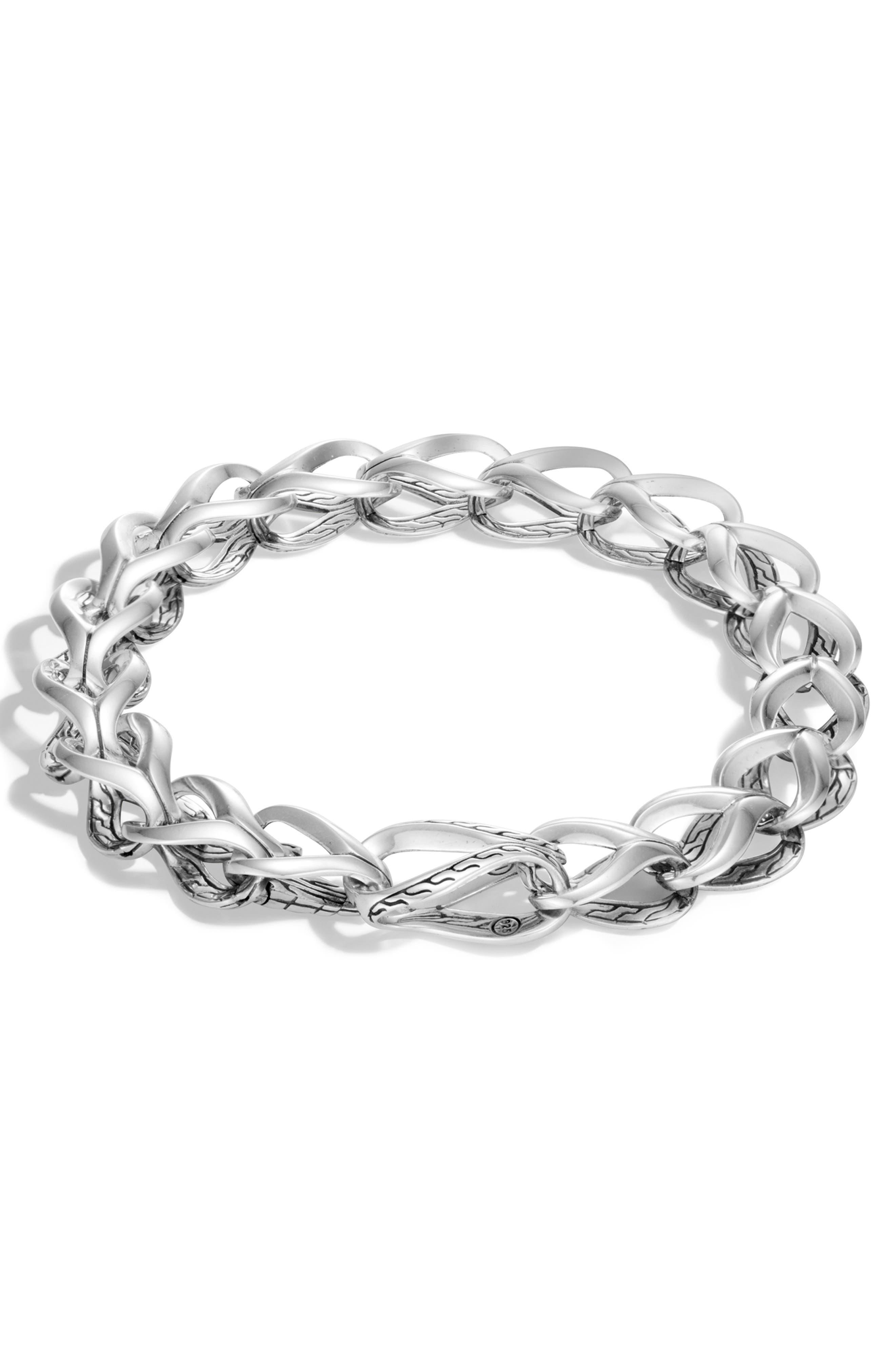 Classic Chain Link Bracelet,                             Main thumbnail 1, color,                             SILVER