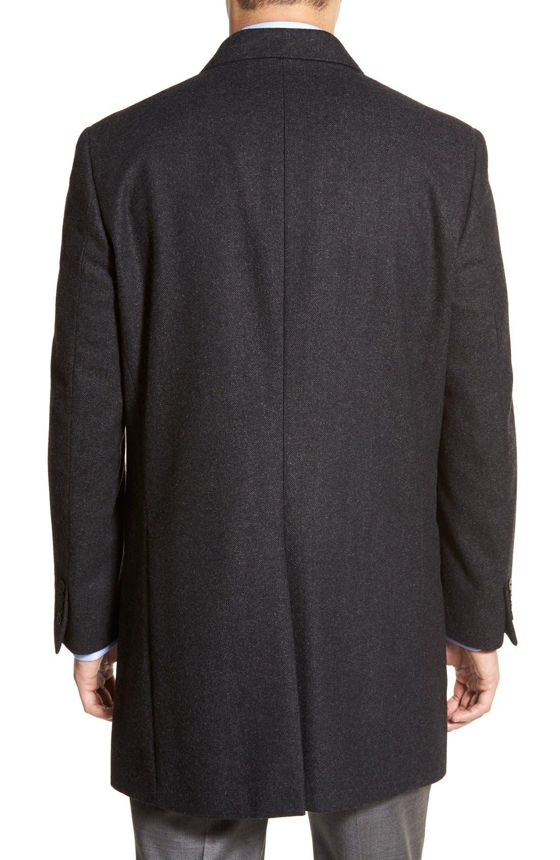 Maitland Modern Fit Wool Blend Overcoat,                             Alternate thumbnail 5, color,                             035