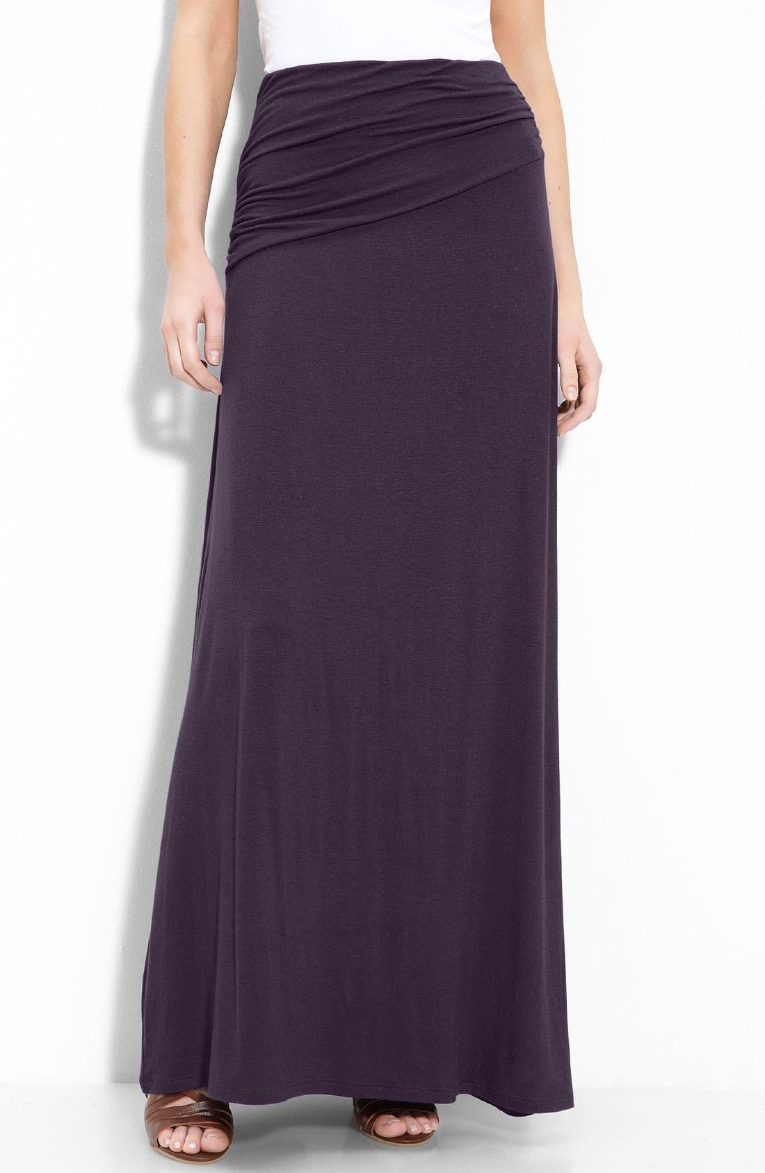 Asymmetric Knit Maxi Skirt,                             Main thumbnail 8, color,