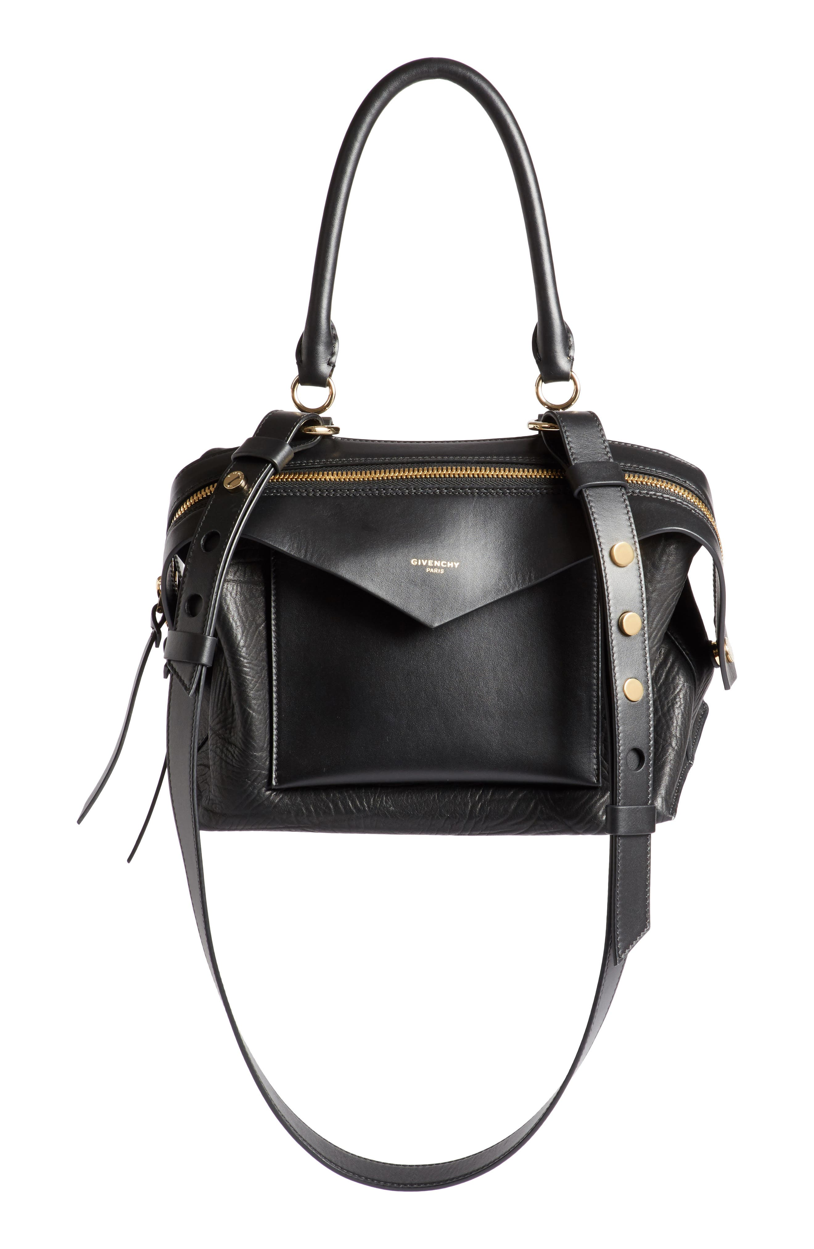 Small Sway Leather Satchel,                         Main,                         color,
