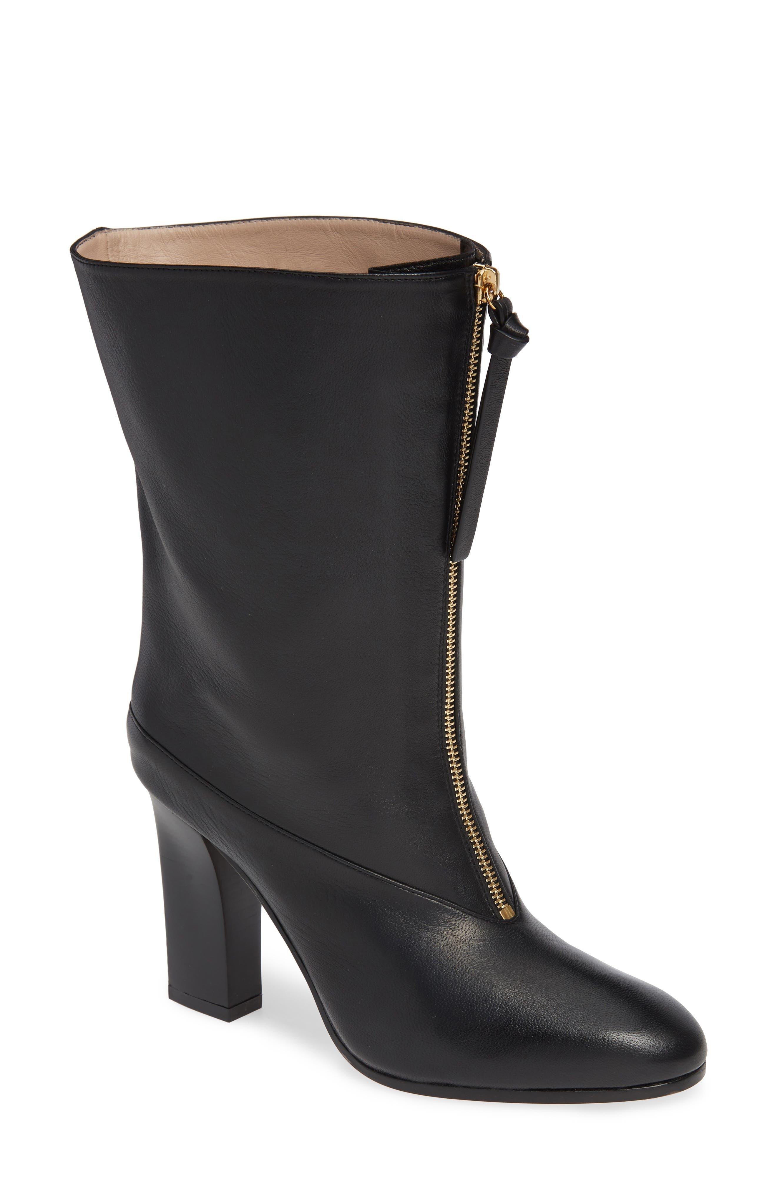 Jett Front Zip Boot,                         Main,                         color, NERO NUBO