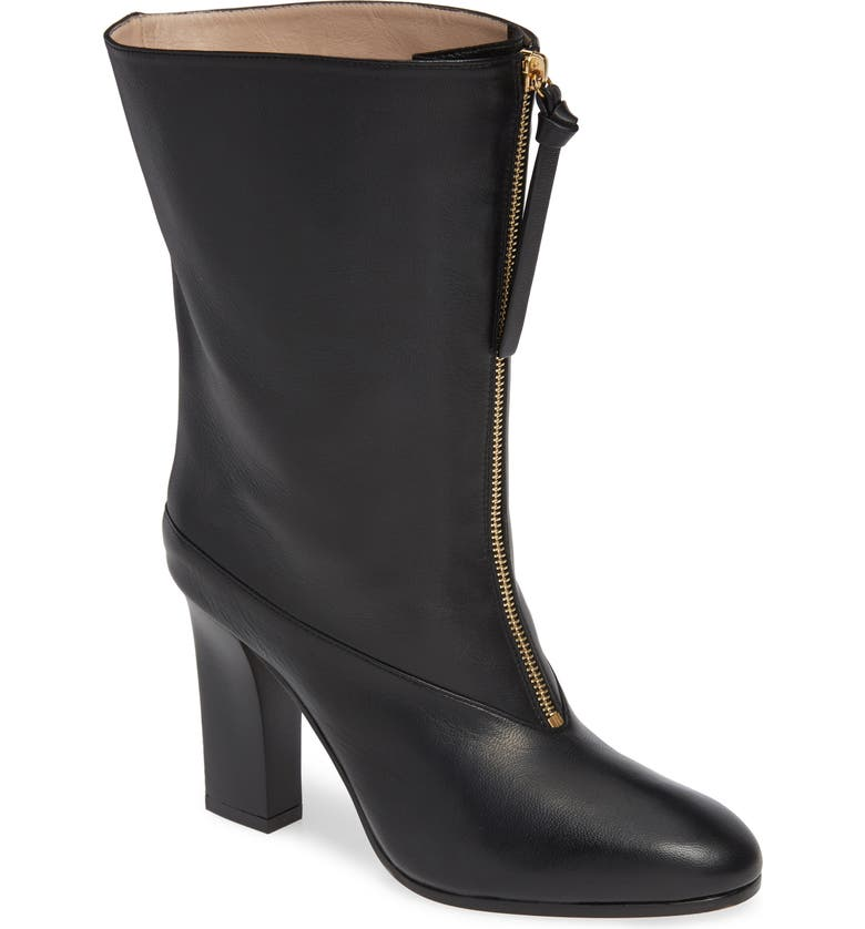 Jett Front Zip Boot,                        Main,                        color, NERO NUBO