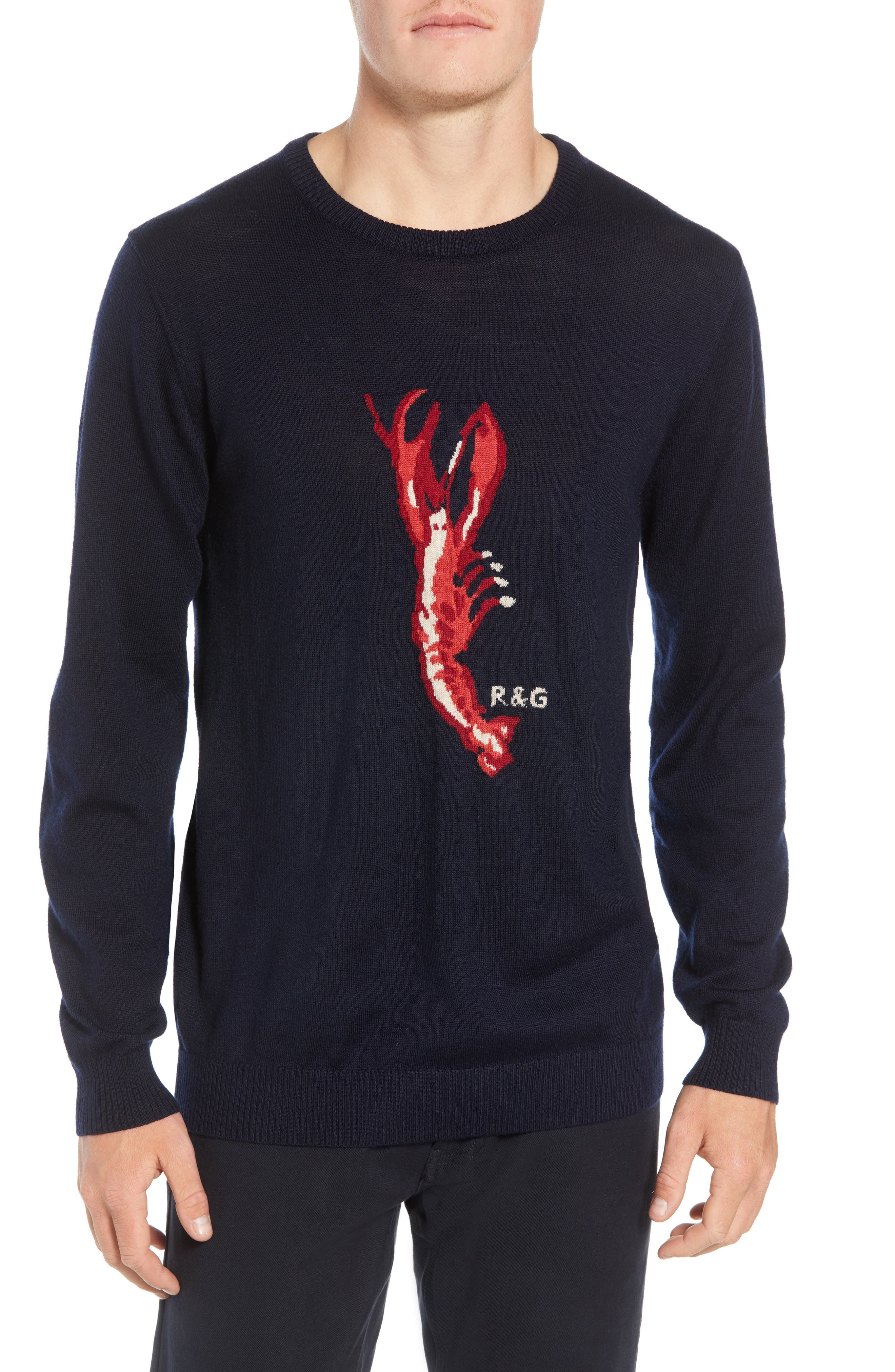 Rodd & Gunn Nautical Marine Extra Fine Merino Wool Sweater, Blue