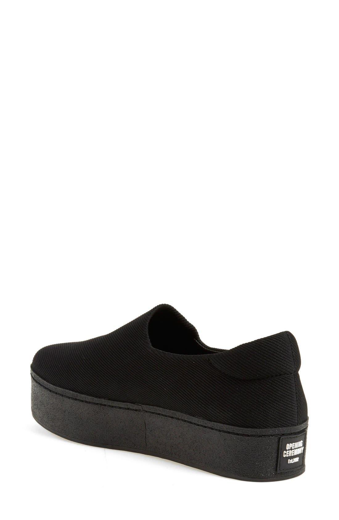 Cici Platform Sneaker,                             Alternate thumbnail 3, color,                             001
