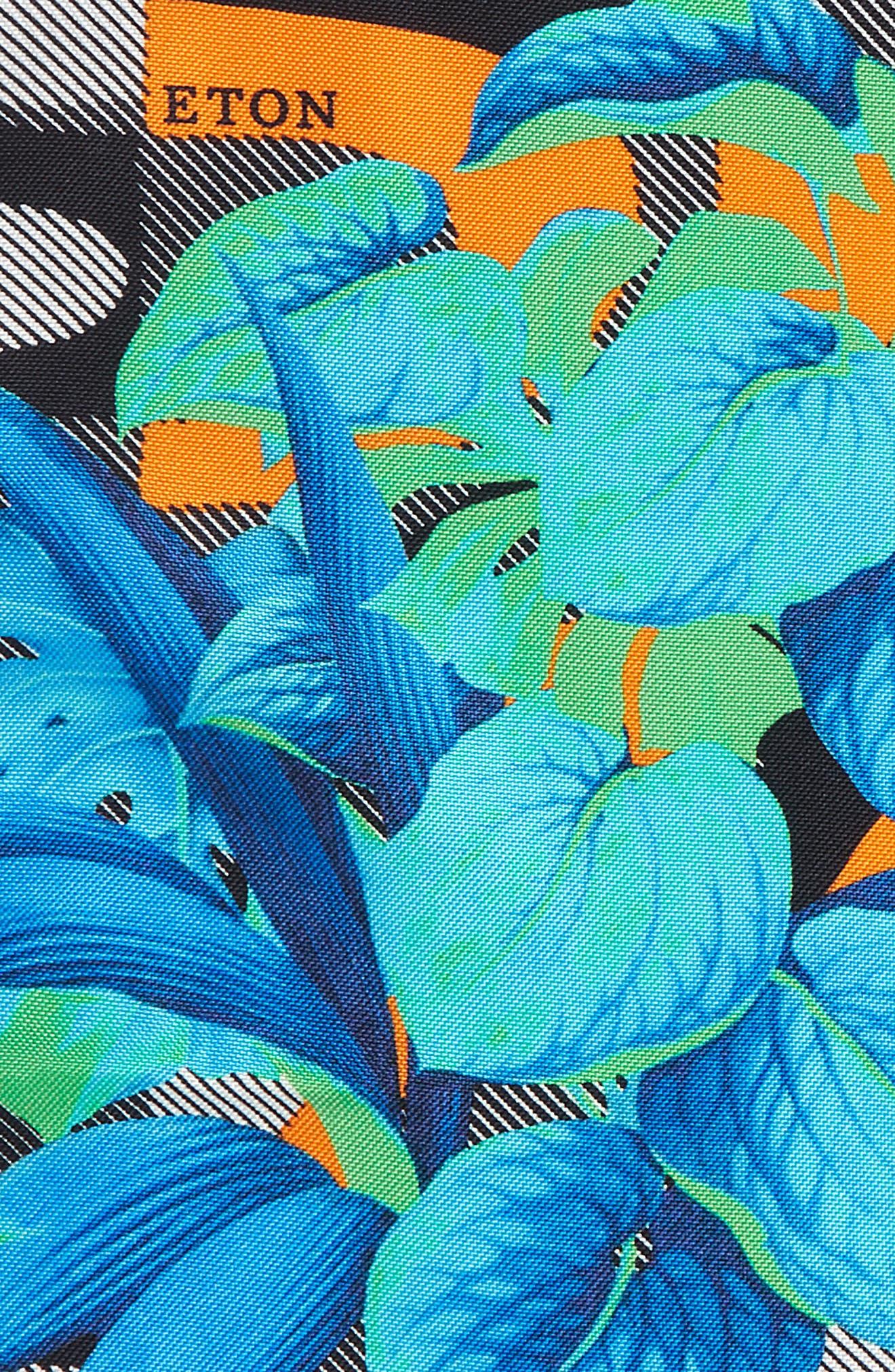 Tropical Floral Silk Pocket Square,                             Alternate thumbnail 3, color,                             400