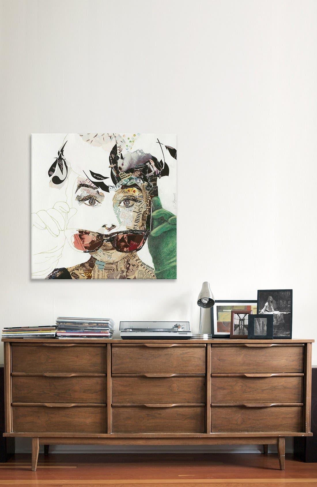 'Audrey' Giclée Print Canvas Art,                             Alternate thumbnail 2, color,                             020
