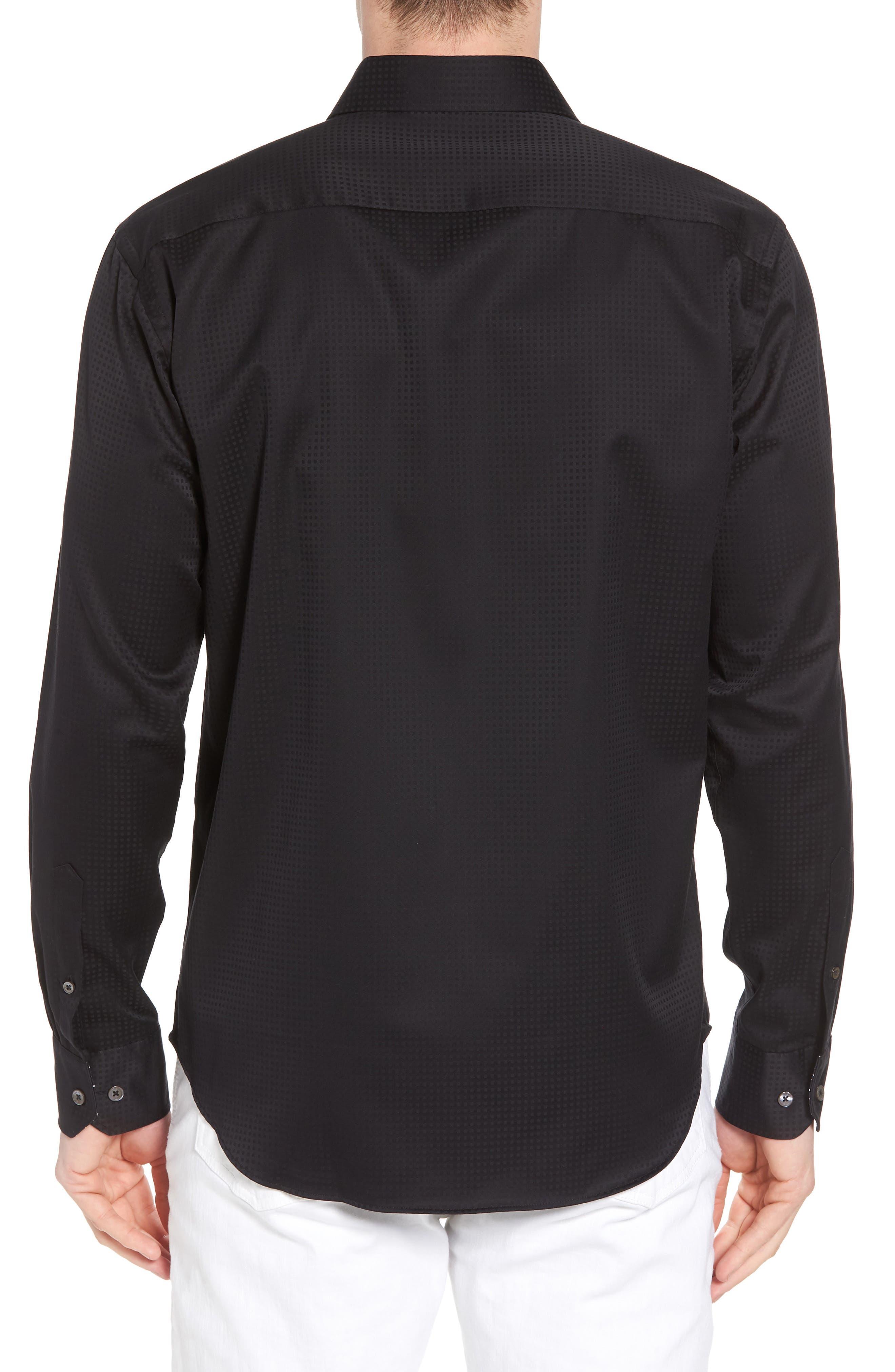 Shaped Fit Check Sport Shirt,                             Alternate thumbnail 2, color,                             001