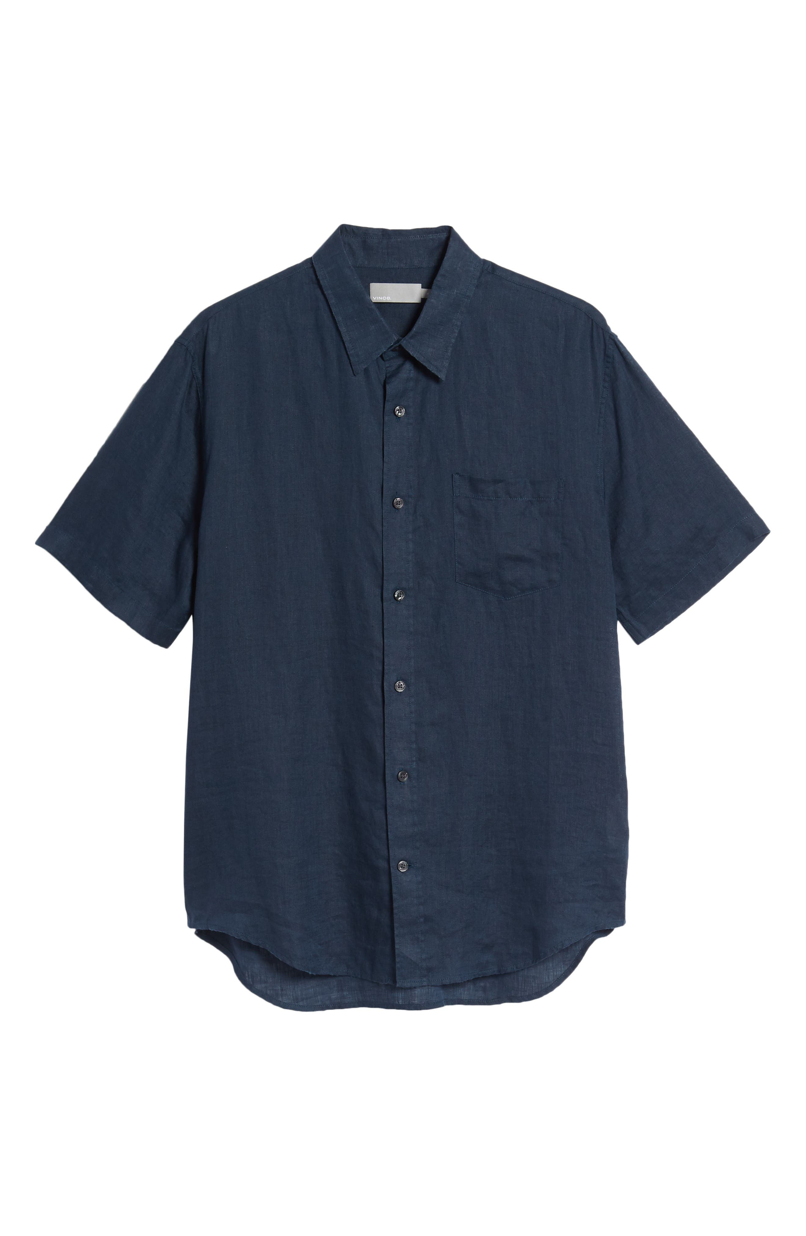 Classic Fit Washed Short Sleeve Sport Shirt,                             Alternate thumbnail 6, color,                             464