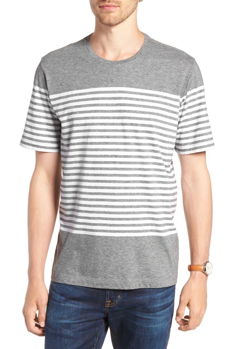 1901 Slub Stripe Pima Cotton T Shirt Nordstrom