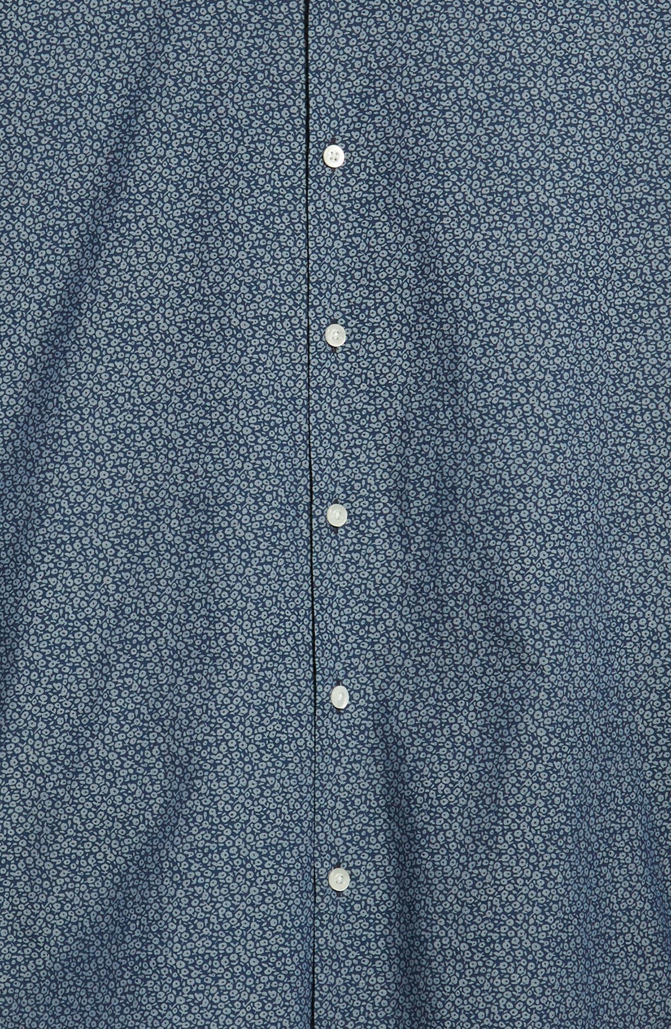 Unbutton Down Slim Fit Sport Shirt,                             Alternate thumbnail 6, color,                             CIELO FLORAL - INDIO