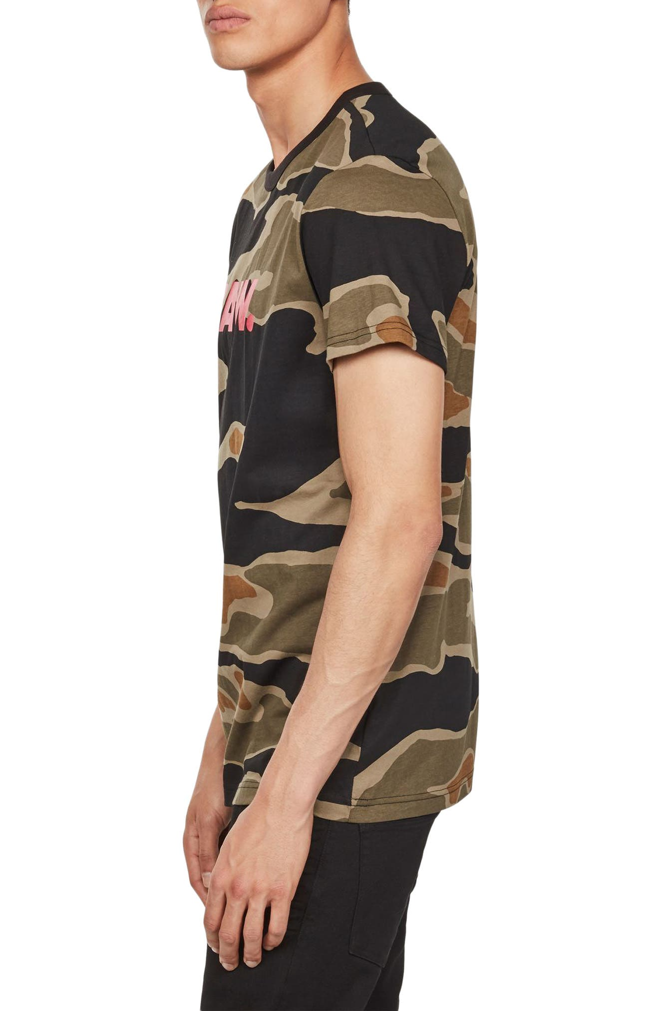 Tiger Camo Graphic T-Shirt,                             Alternate thumbnail 3, color,                             300