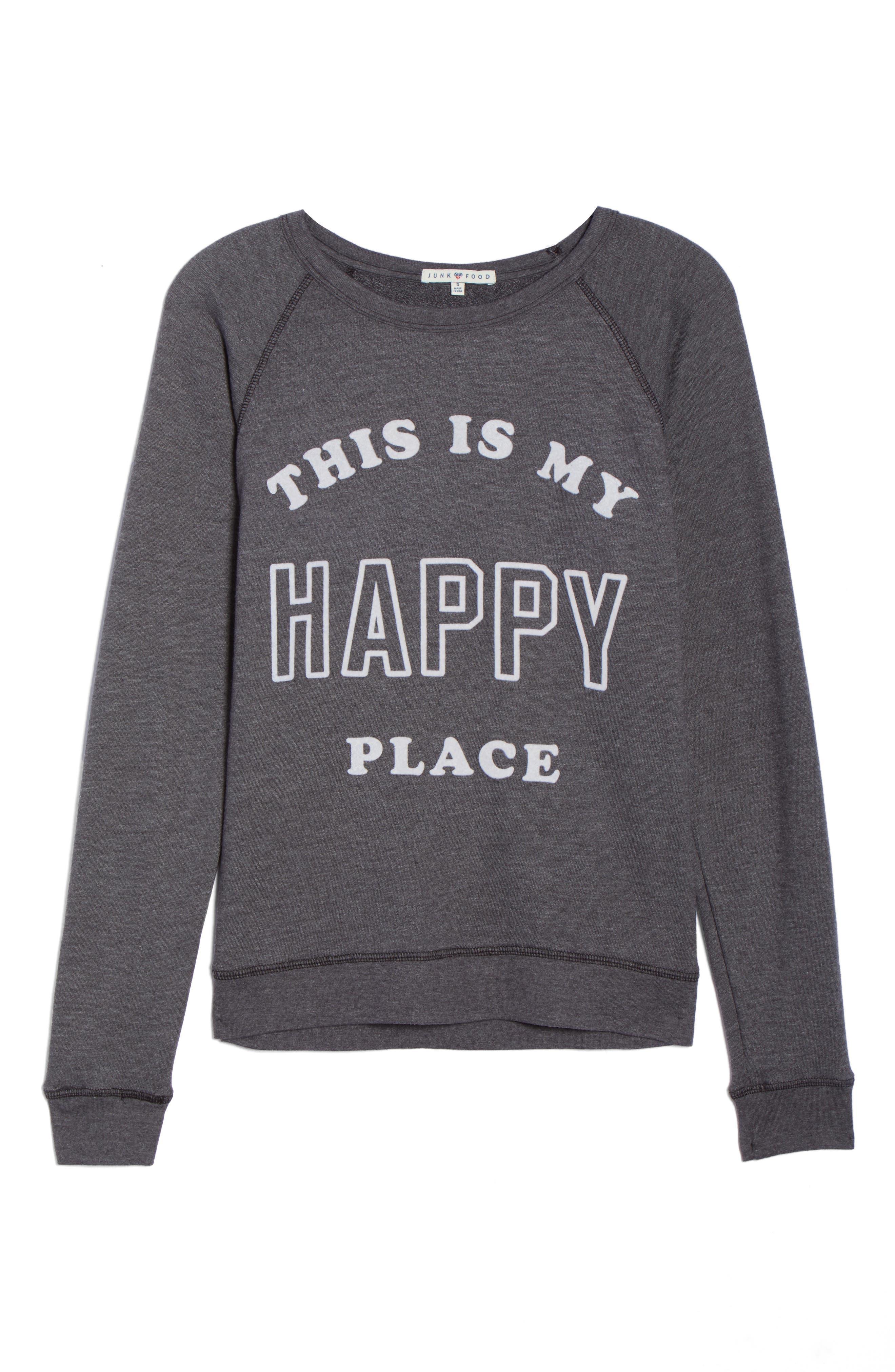 Happy Place Sweatshirt,                             Alternate thumbnail 6, color,