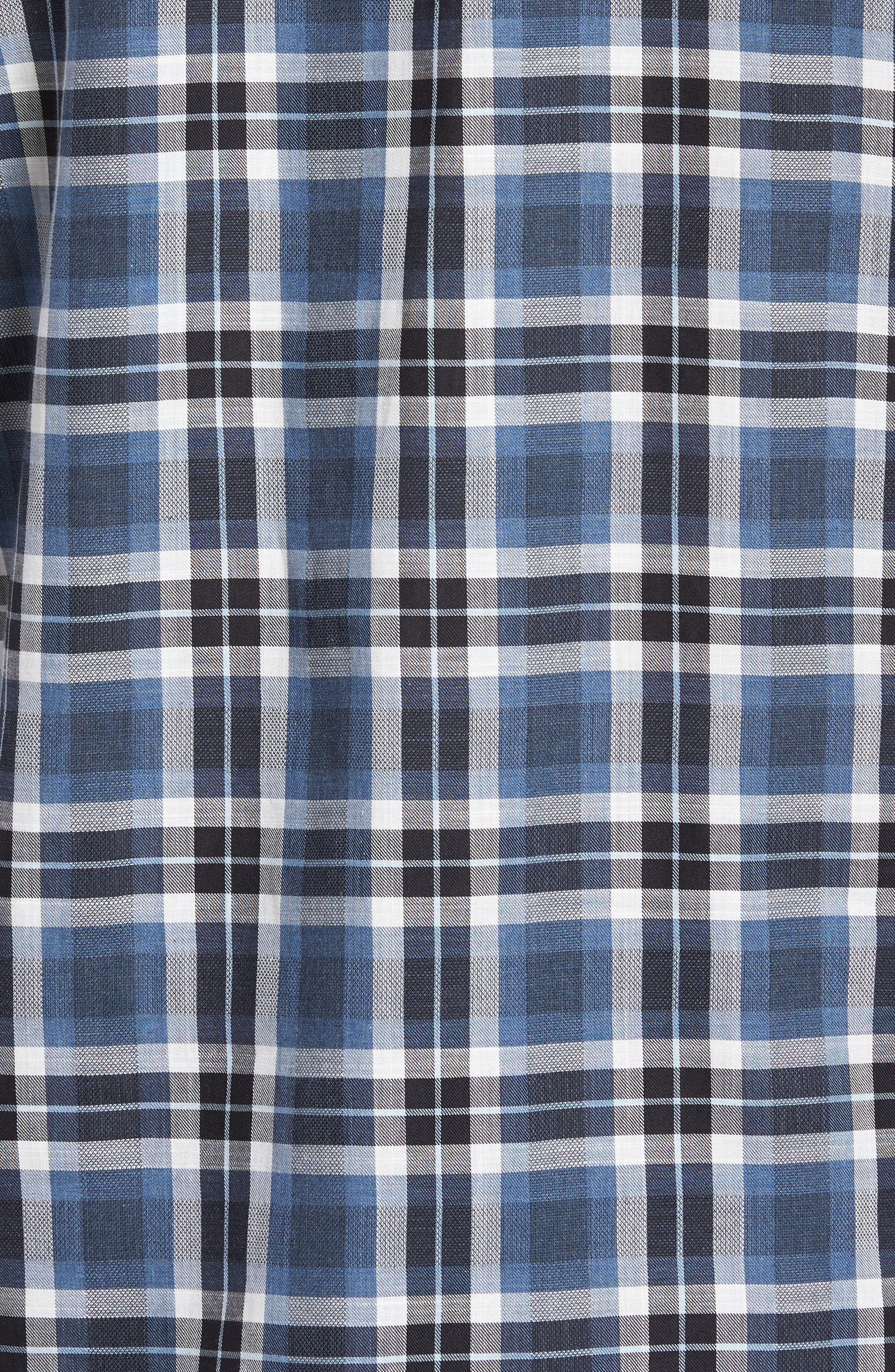 Trim Fit Plaid Flannel Shirt,                             Alternate thumbnail 5, color,                             413