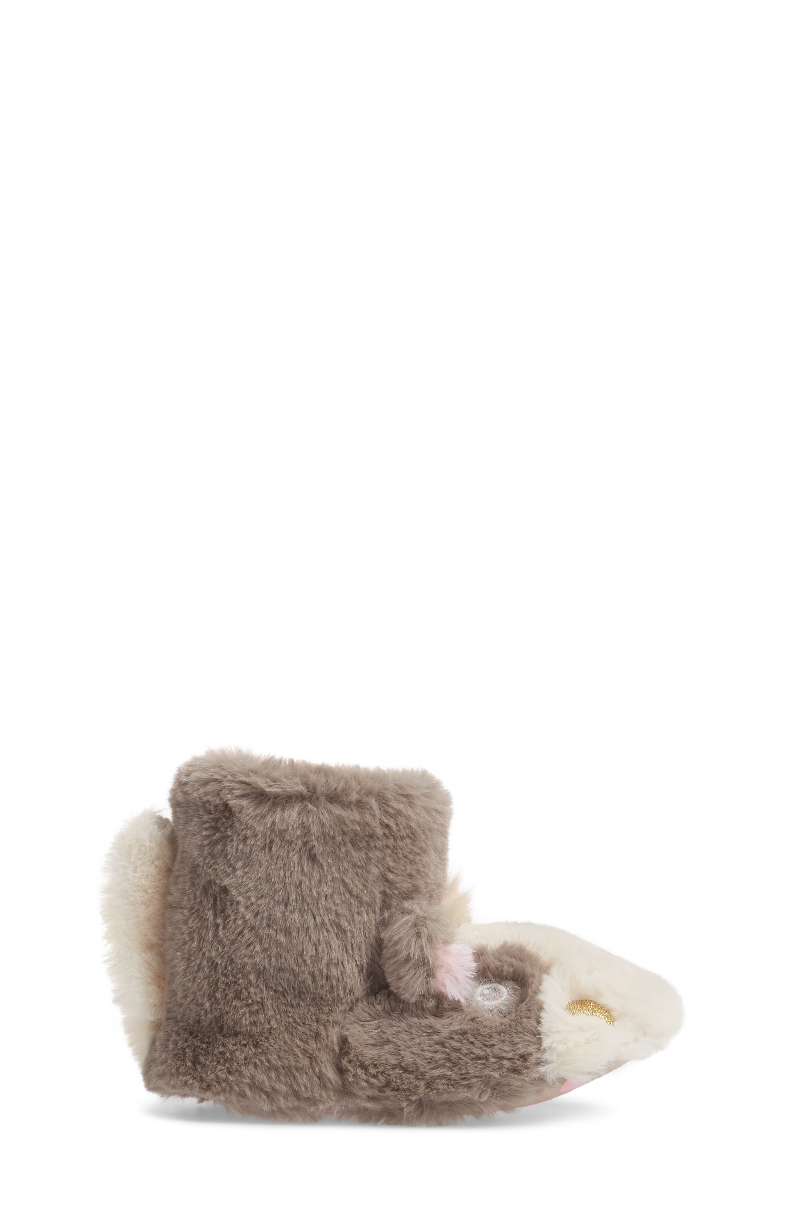 Faux Fur Horse Slipper,                             Alternate thumbnail 3, color,                             200
