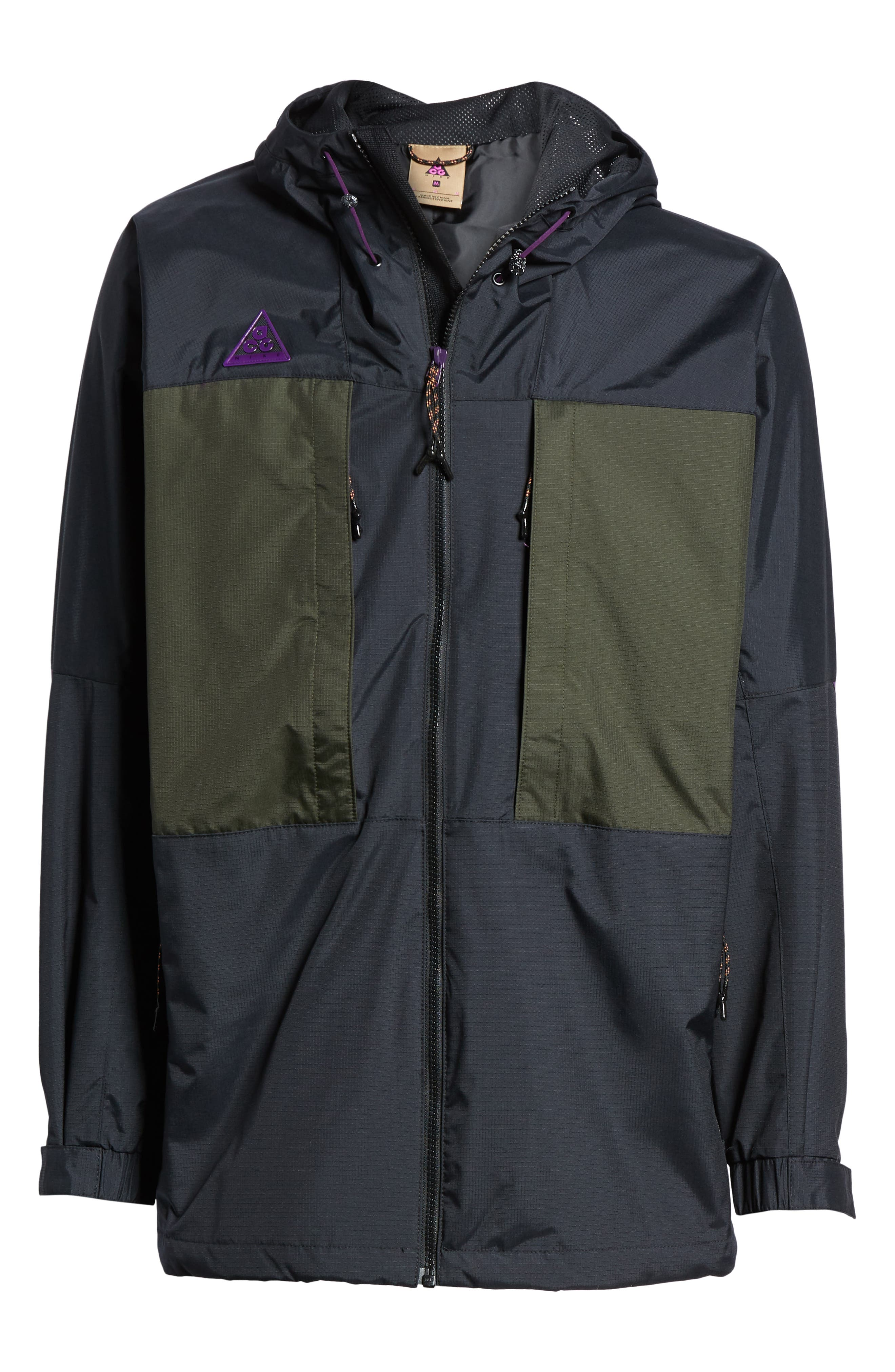 ACG Men's Anorak Jacket,                             Alternate thumbnail 6, color,                             BLACK/ SEQUOIA/ BLACK