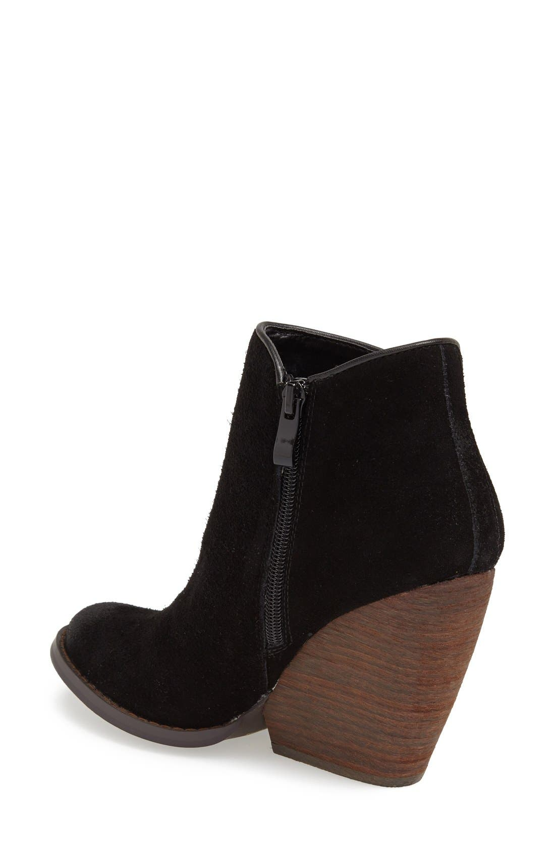 'Whitby' Demi Wedge Bootie,                             Alternate thumbnail 4, color,                             001