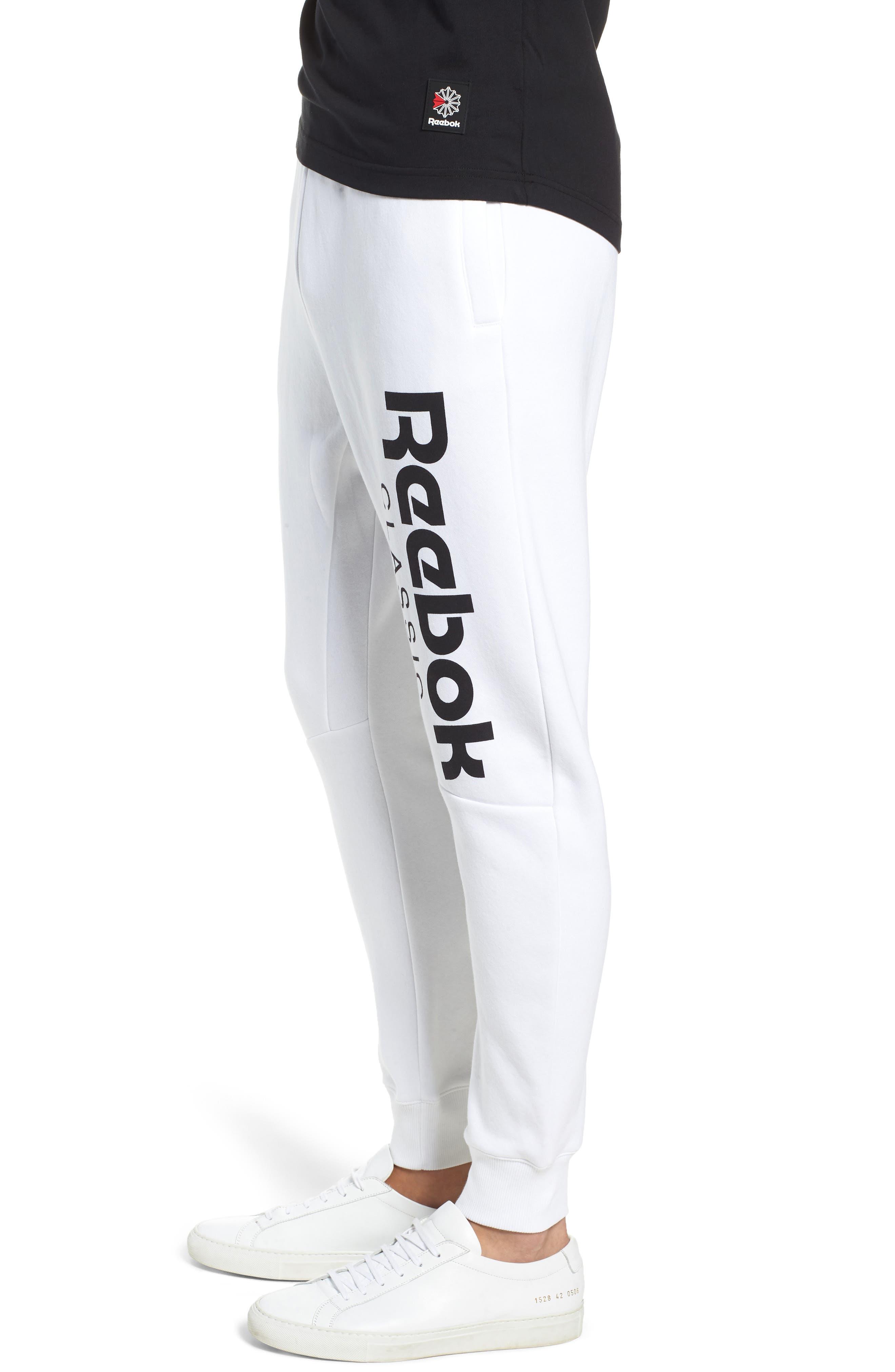 Logo Jogger Pants,                             Alternate thumbnail 3, color,                             WHITE