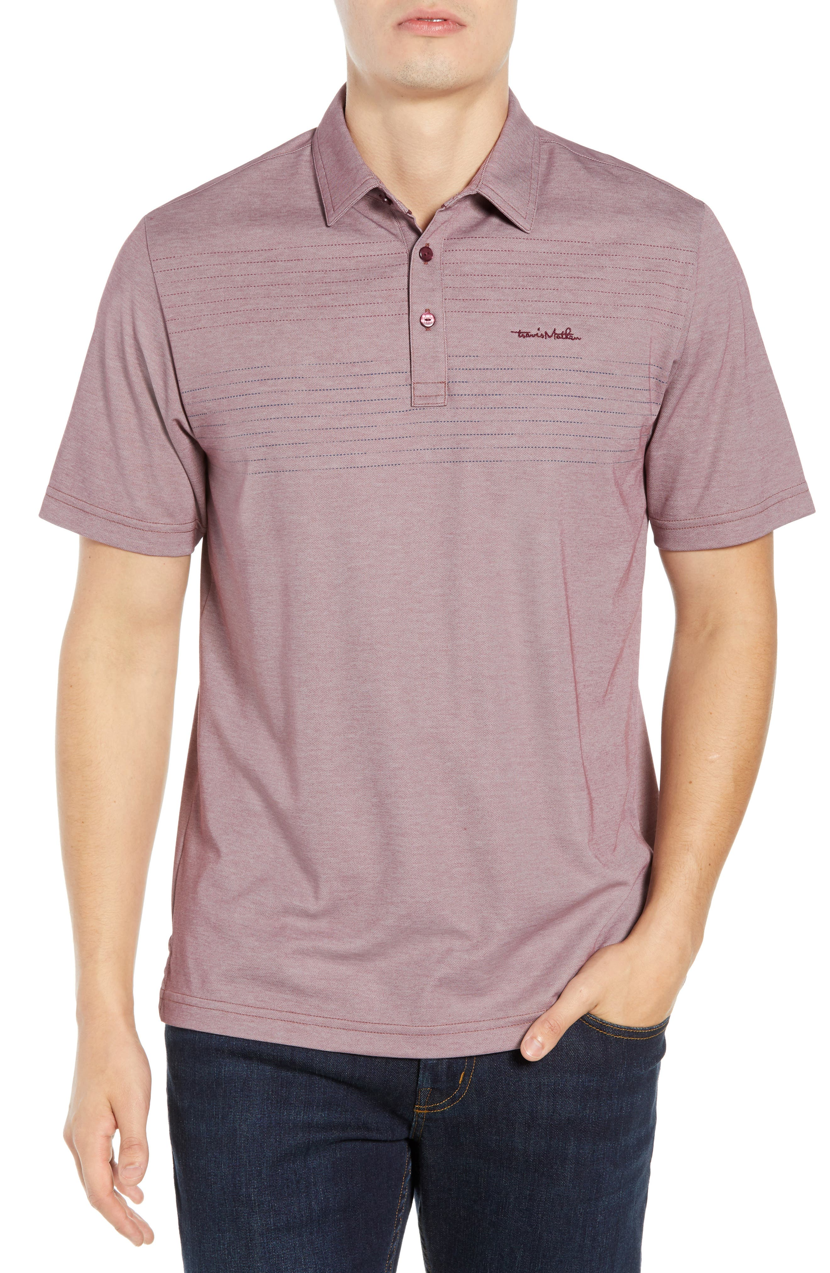 Asleep at the Wheel Regular Fit Polo,                             Main thumbnail 1, color,                             EGGPLANT/ MICRO CHIP