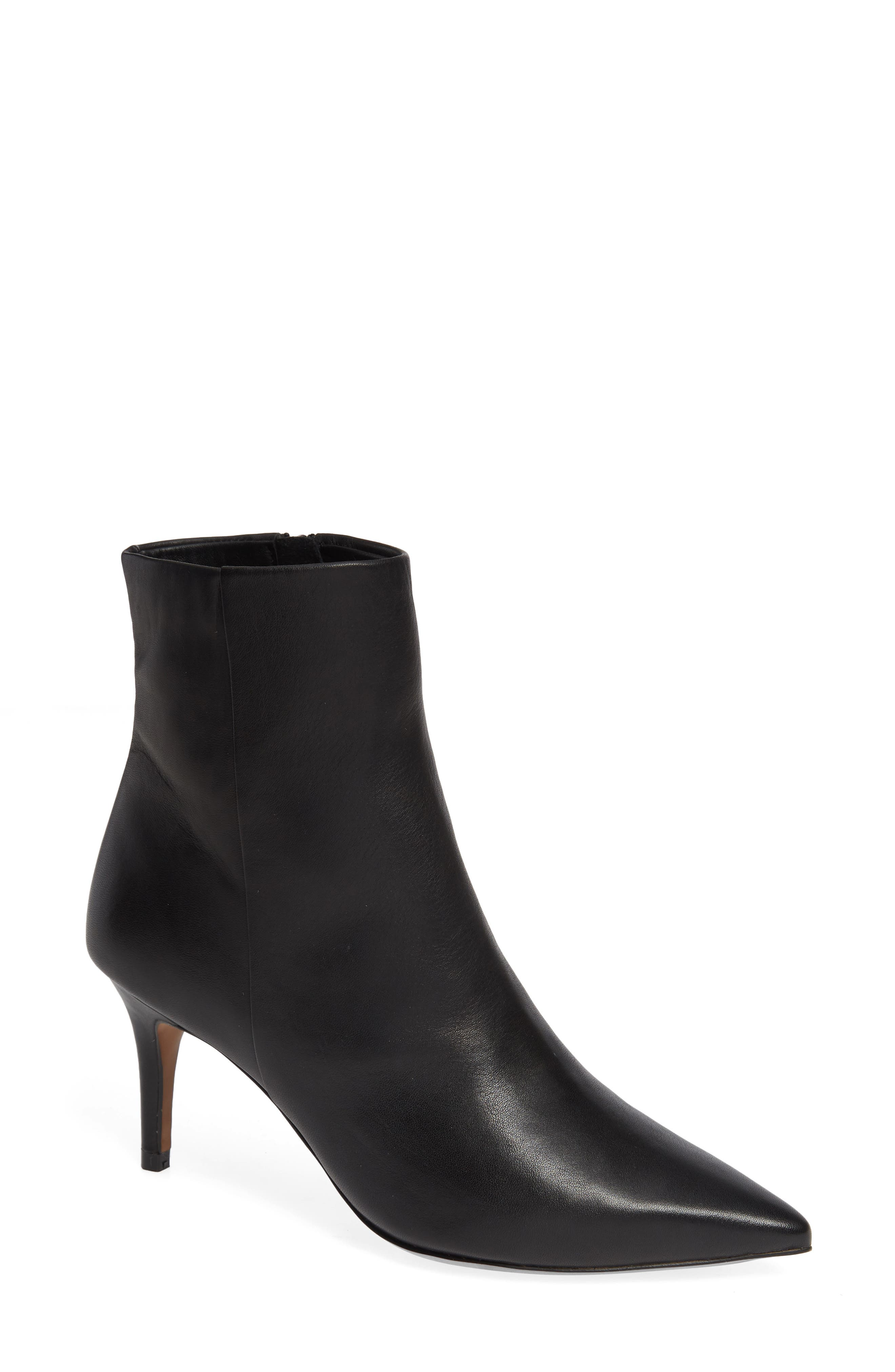 Nita Bootie,                             Main thumbnail 1, color,                             BLACK LEATHER