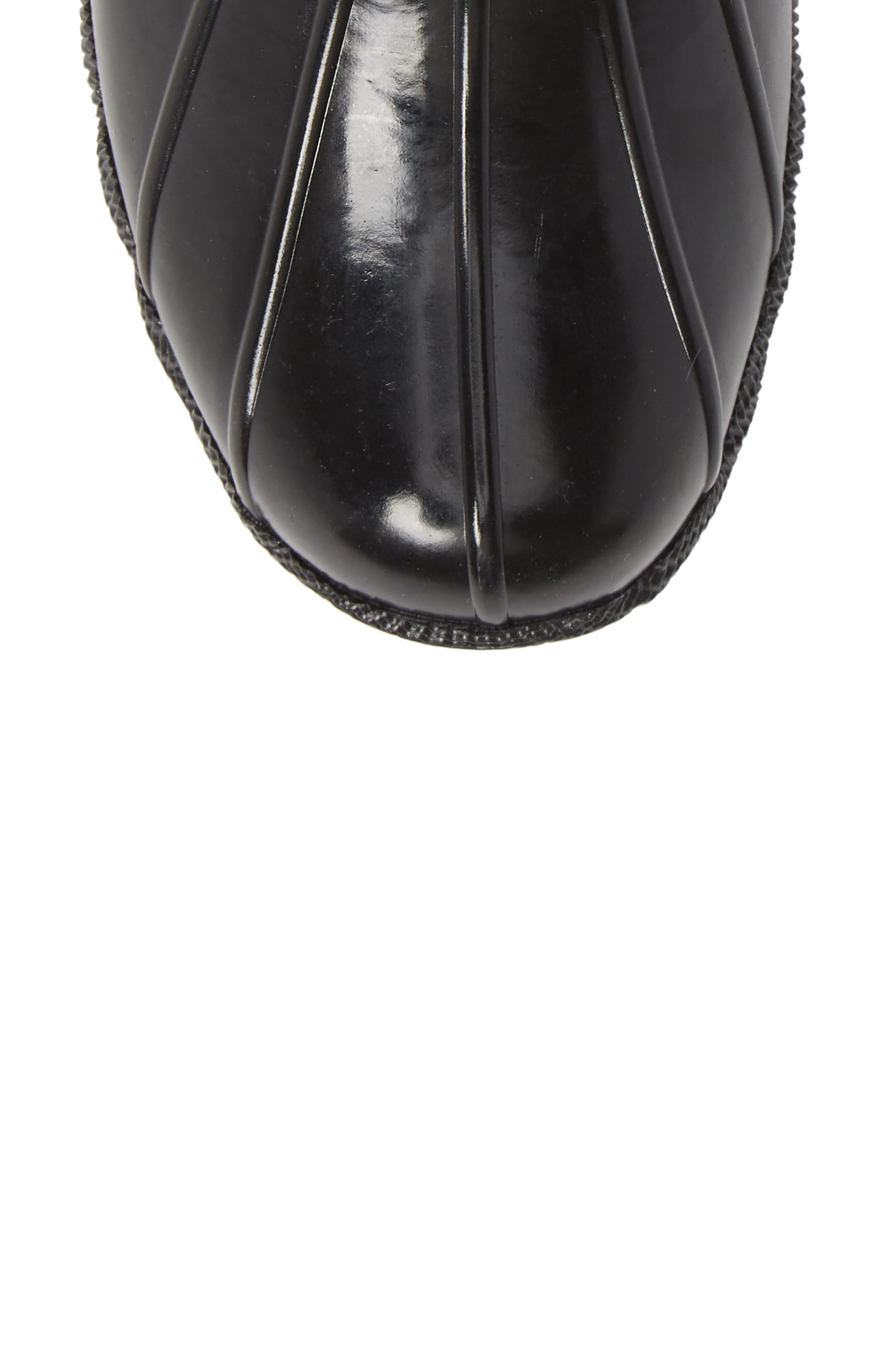 Flooded Rubber Saltwater Bootie,                             Alternate thumbnail 5, color,                             BLACK