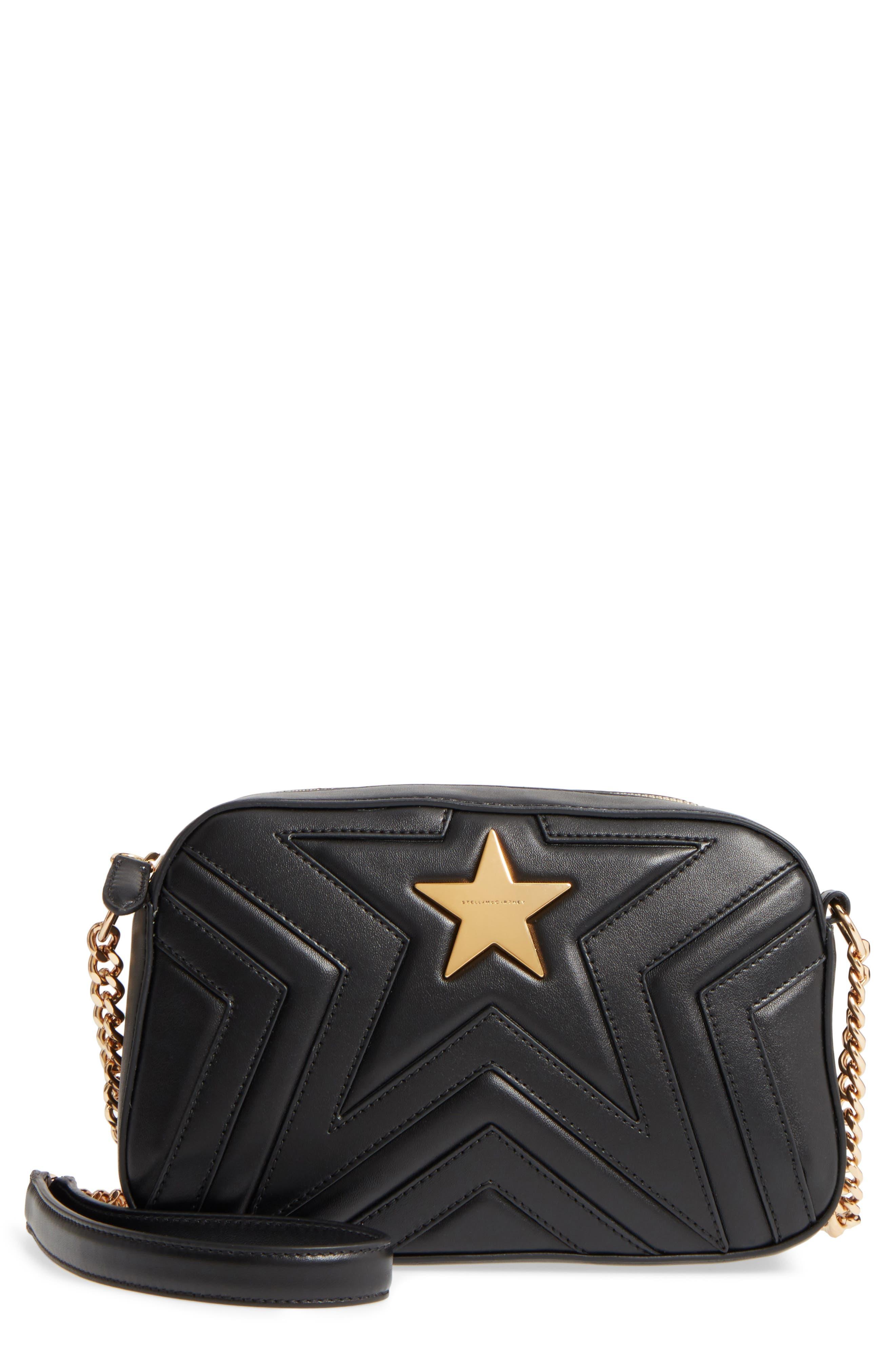 Alter Nappa Faux Leather Shoulder Bag,                         Main,                         color, BLACK
