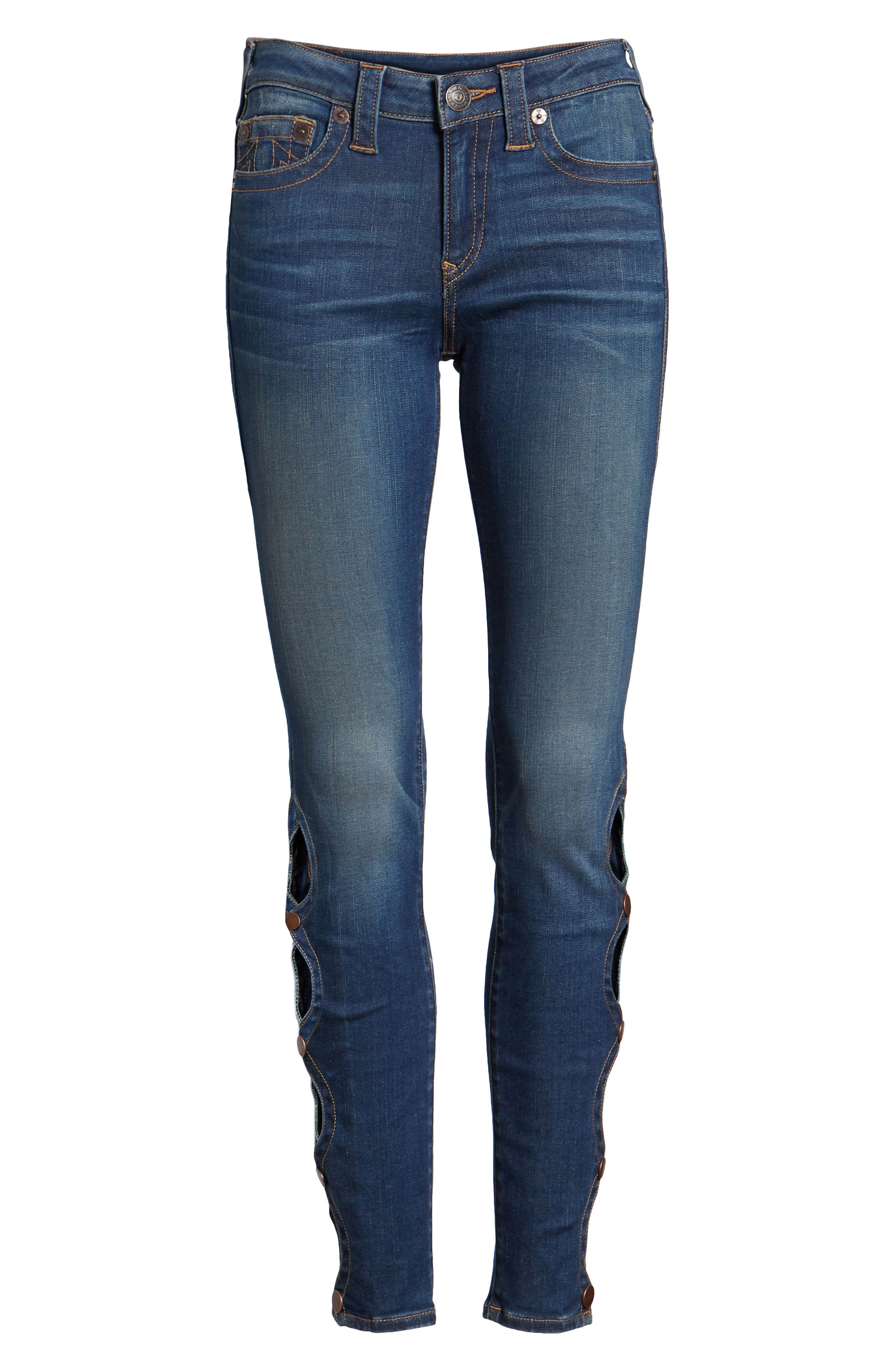Halle Super Skinny Jeans,                             Alternate thumbnail 7, color,
