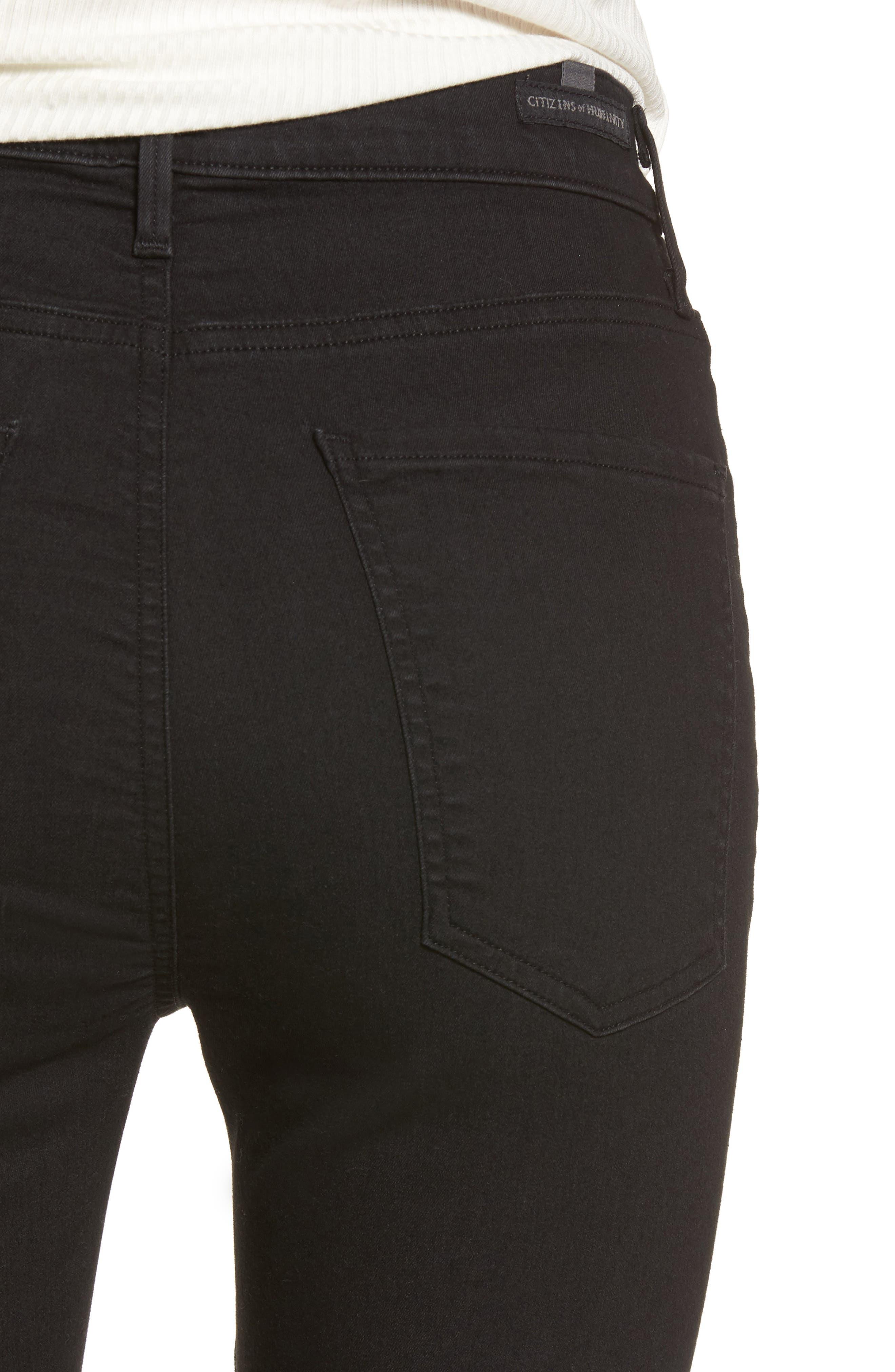 Carlie High Waist Skinny Jeans,                             Alternate thumbnail 4, color,                             011