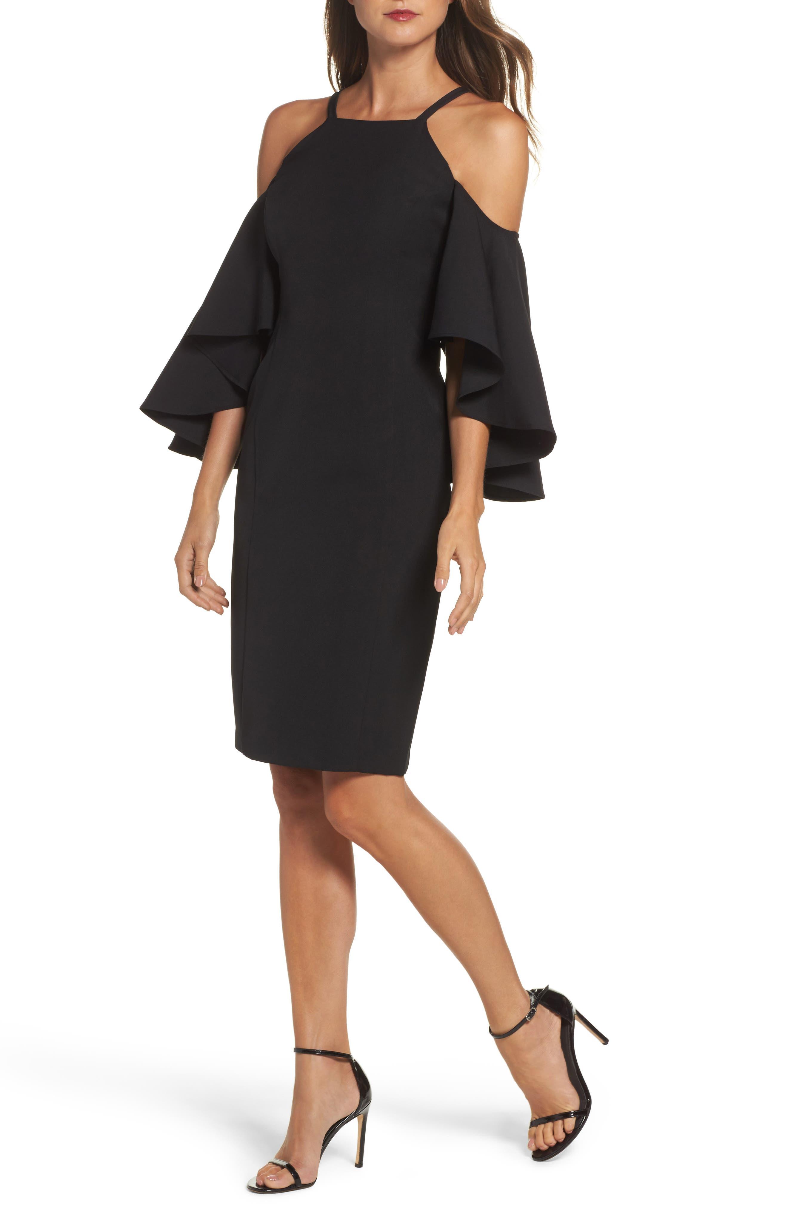 Laguna Cold Shoulder Sheath Dress,                             Main thumbnail 1, color,                             001