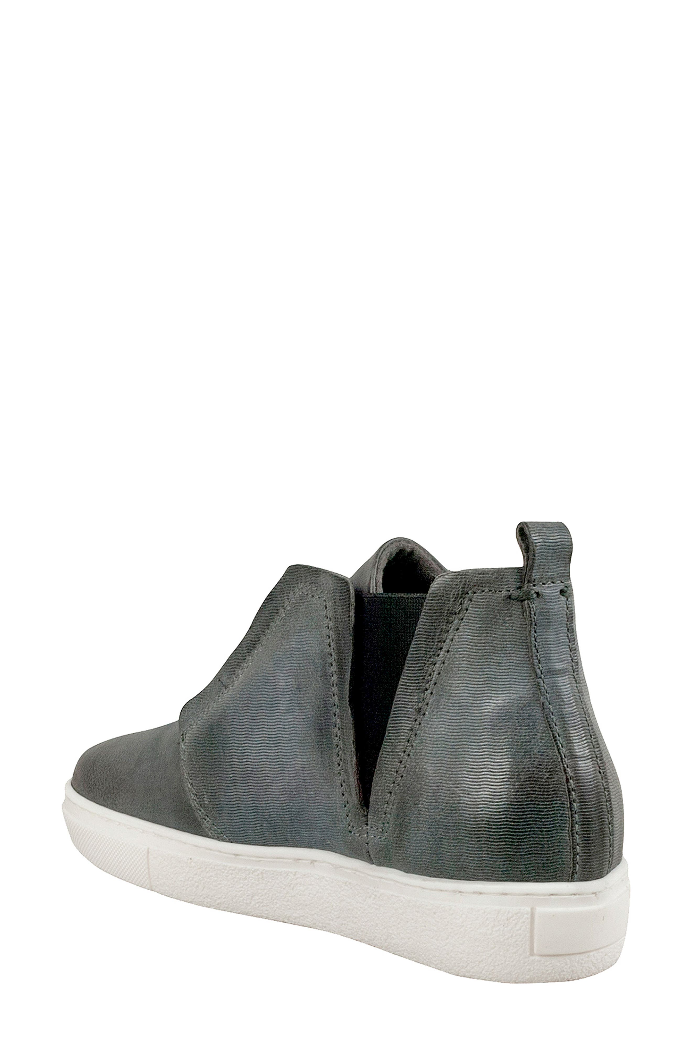 Laurent High Top Sneaker,                             Alternate thumbnail 2, color,                             GRANITE LEATHER