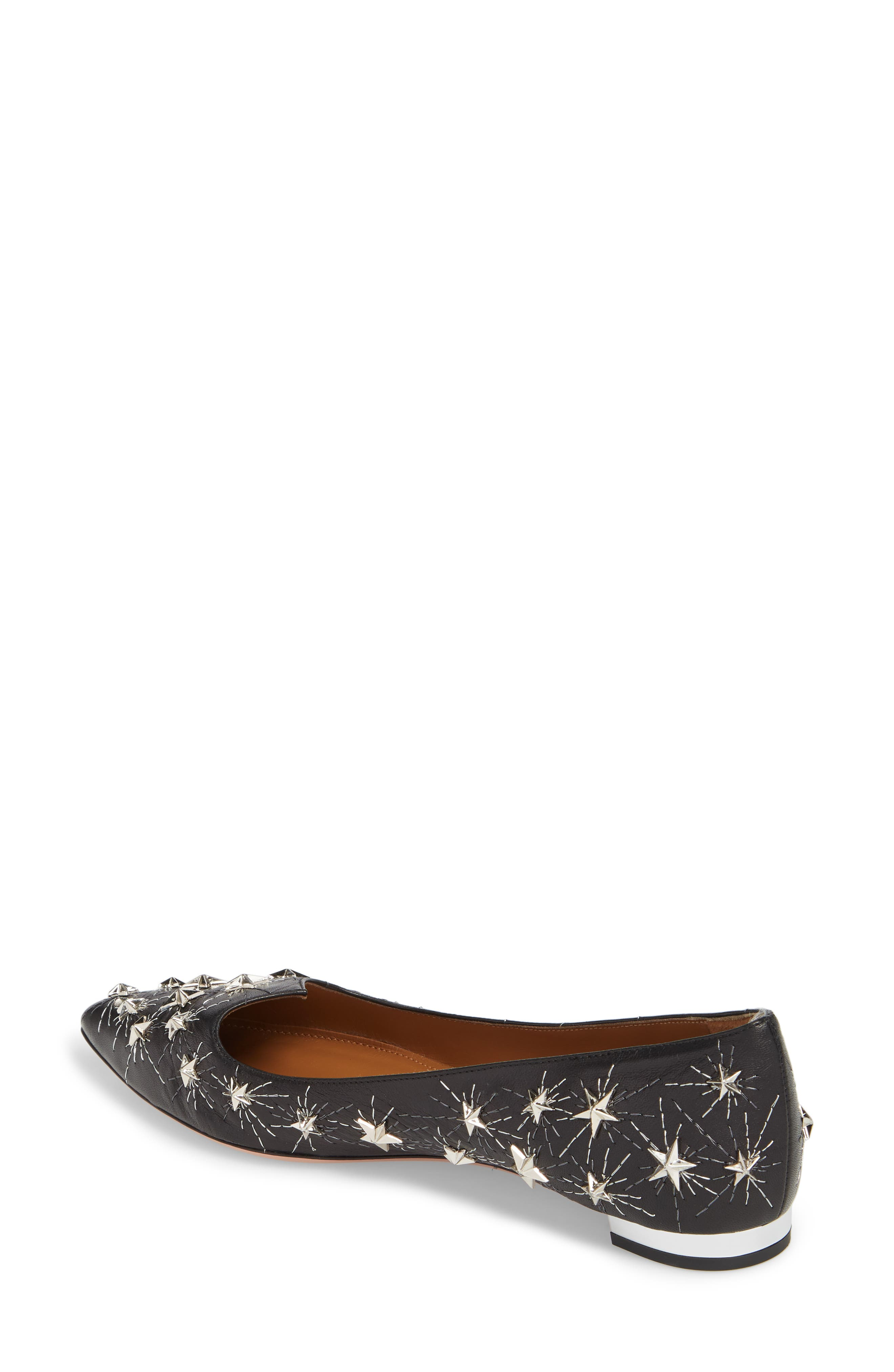 Cosmic Star Pointy Toe Flat,                             Alternate thumbnail 2, color,                             001