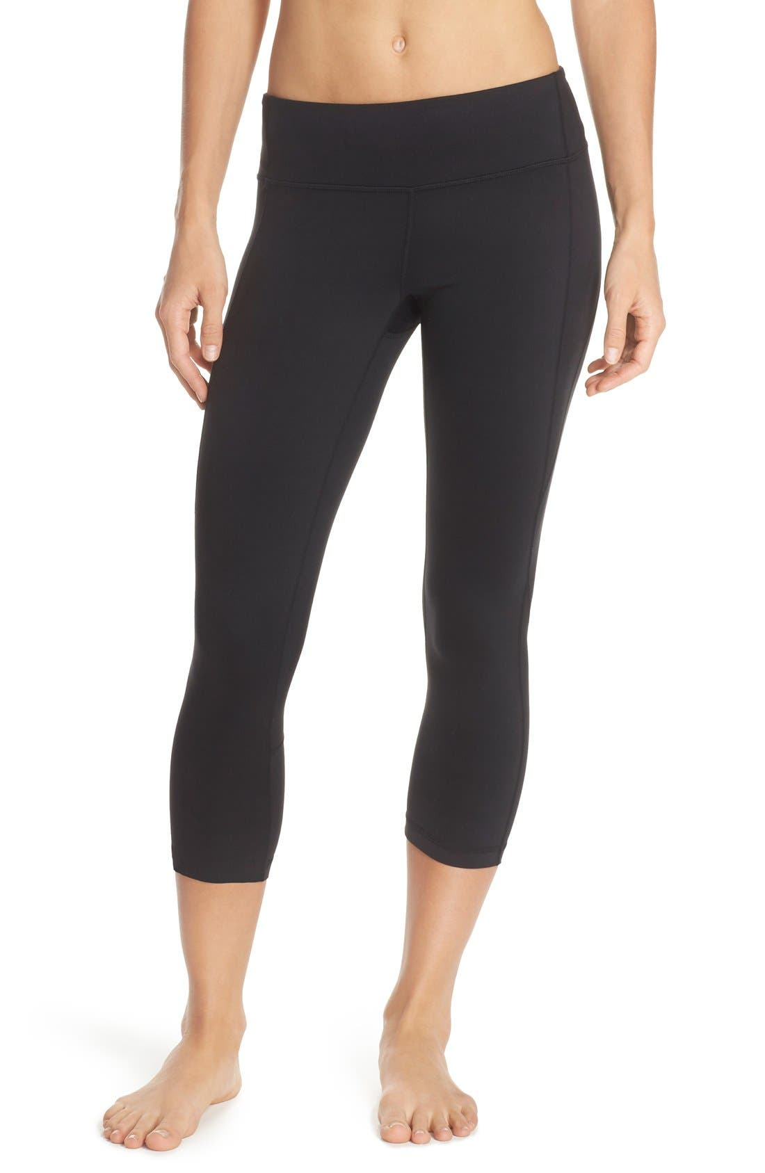 Live-In Keep It Cool Crop Leggings,                             Main thumbnail 1, color,                             001