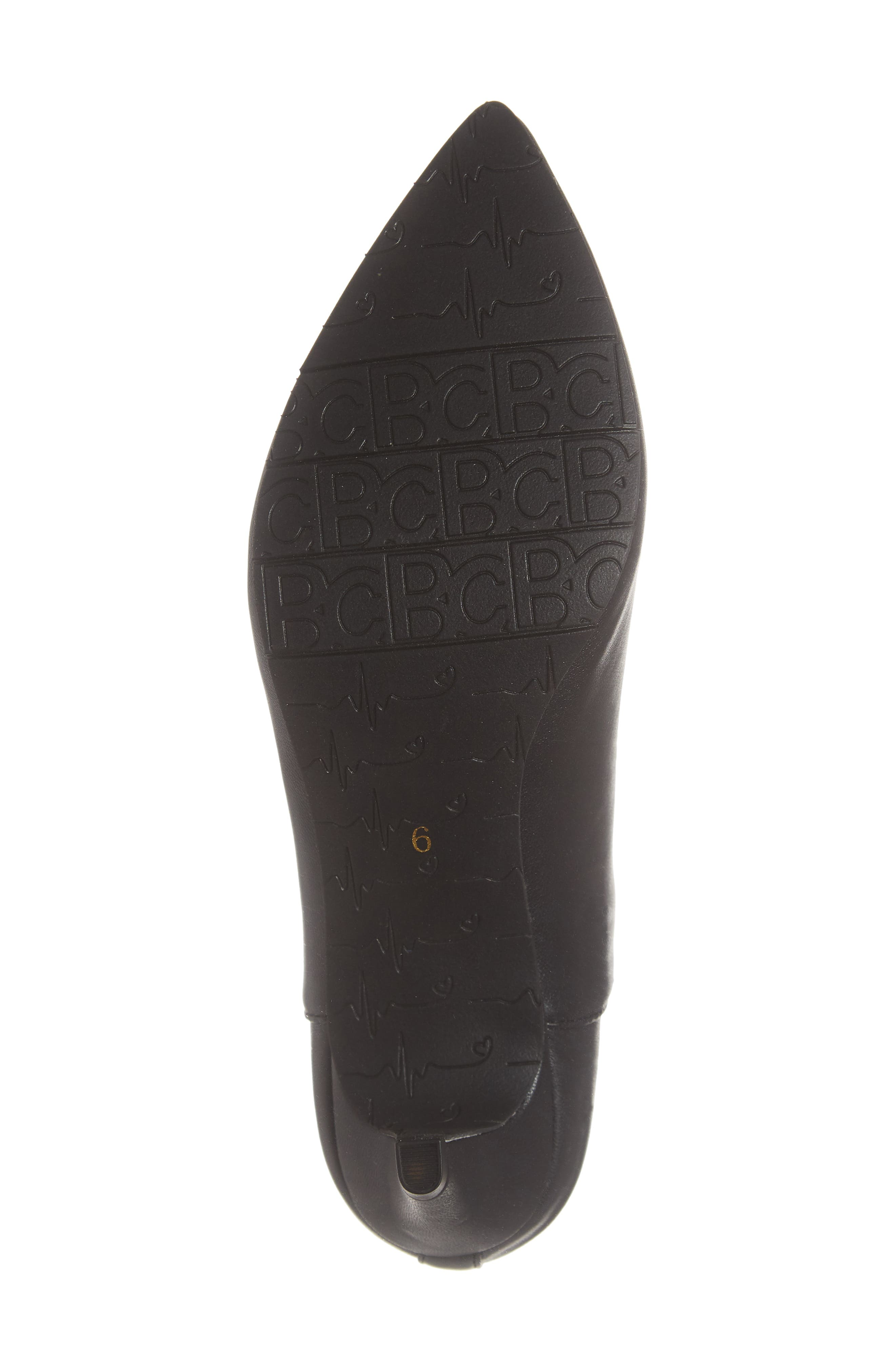 Millimeter Pointy Toe Bootie,                             Alternate thumbnail 6, color,                             BLACK STRETCH