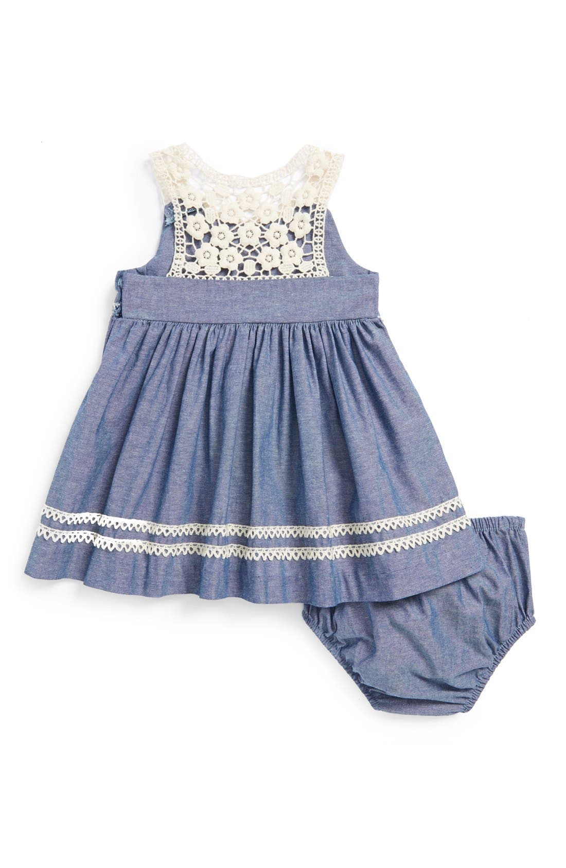 Chambray Dress & Bloomers,                             Alternate thumbnail 2, color,                             400