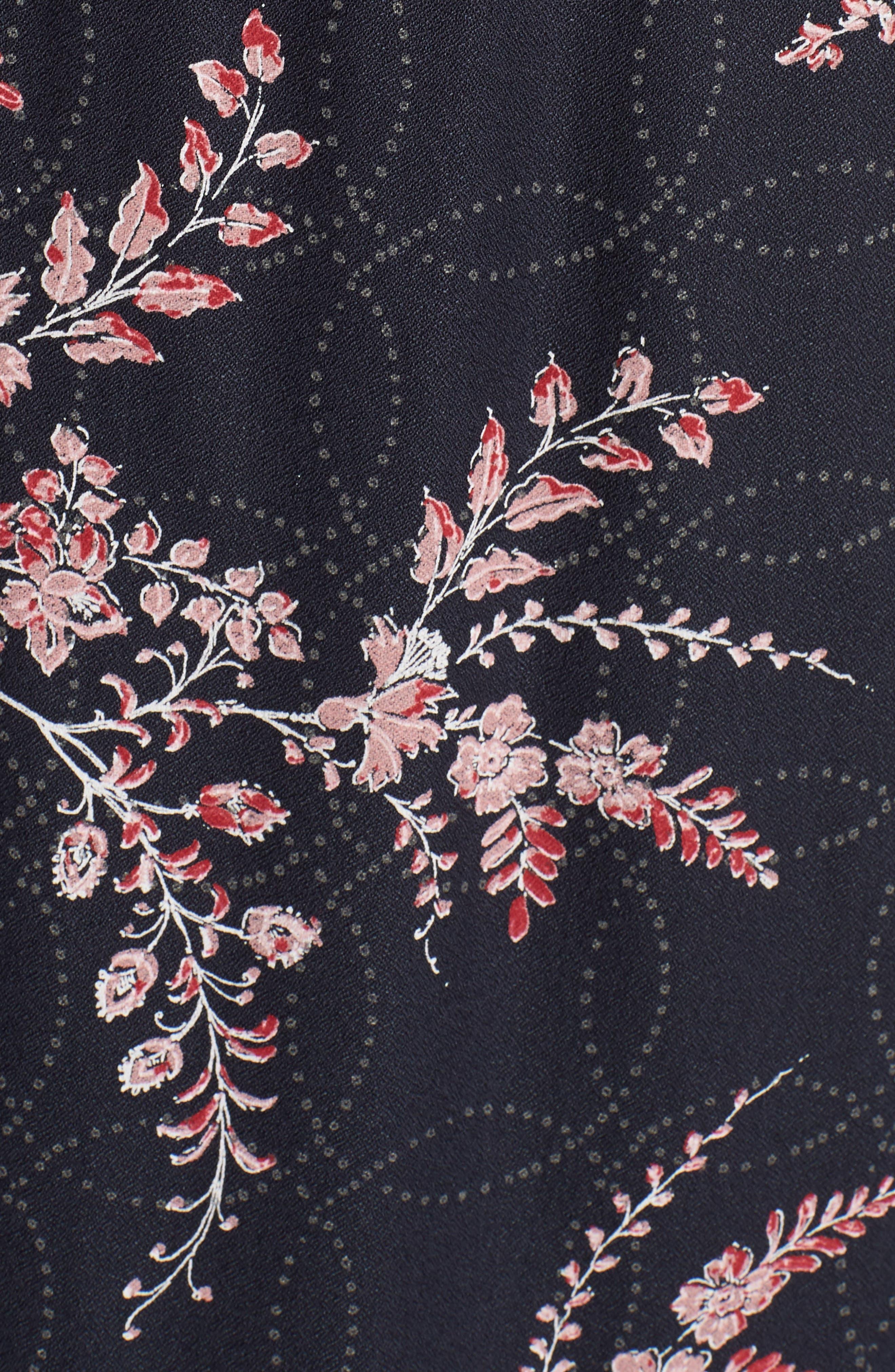 Smock Waist Midi Skirt,                             Alternate thumbnail 5, color,                             410