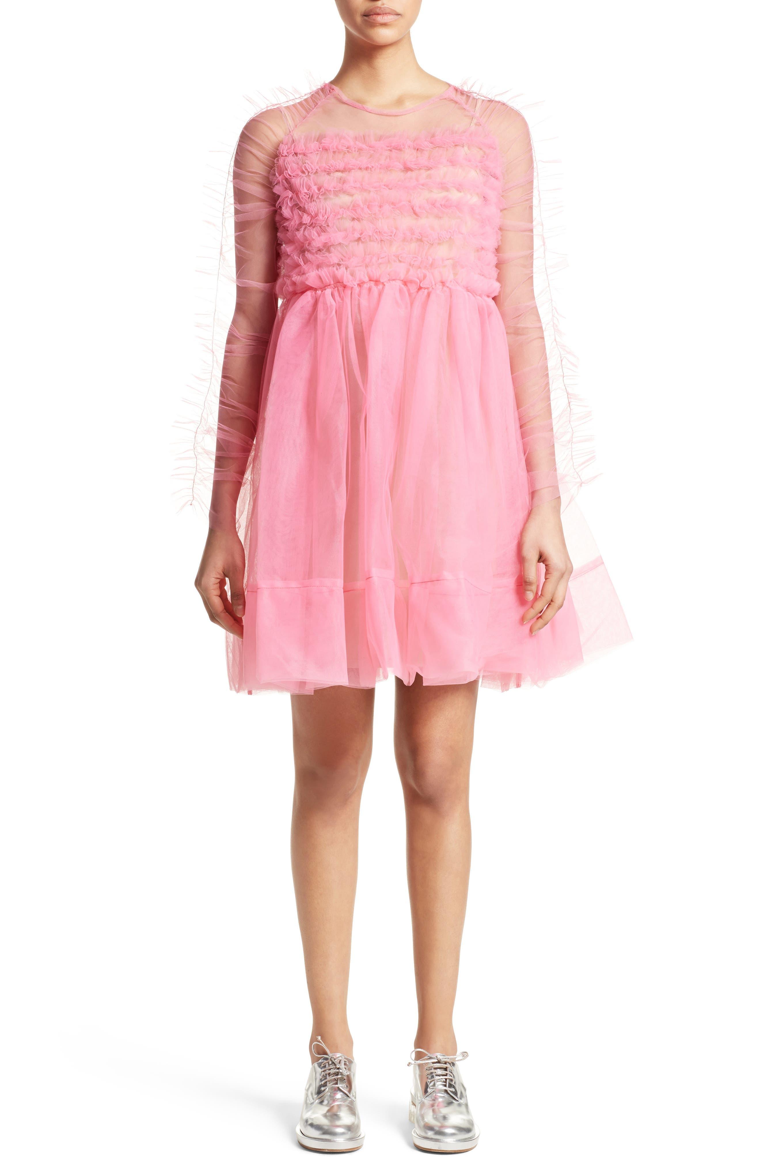 Funky Tulle Dress,                             Alternate thumbnail 5, color,