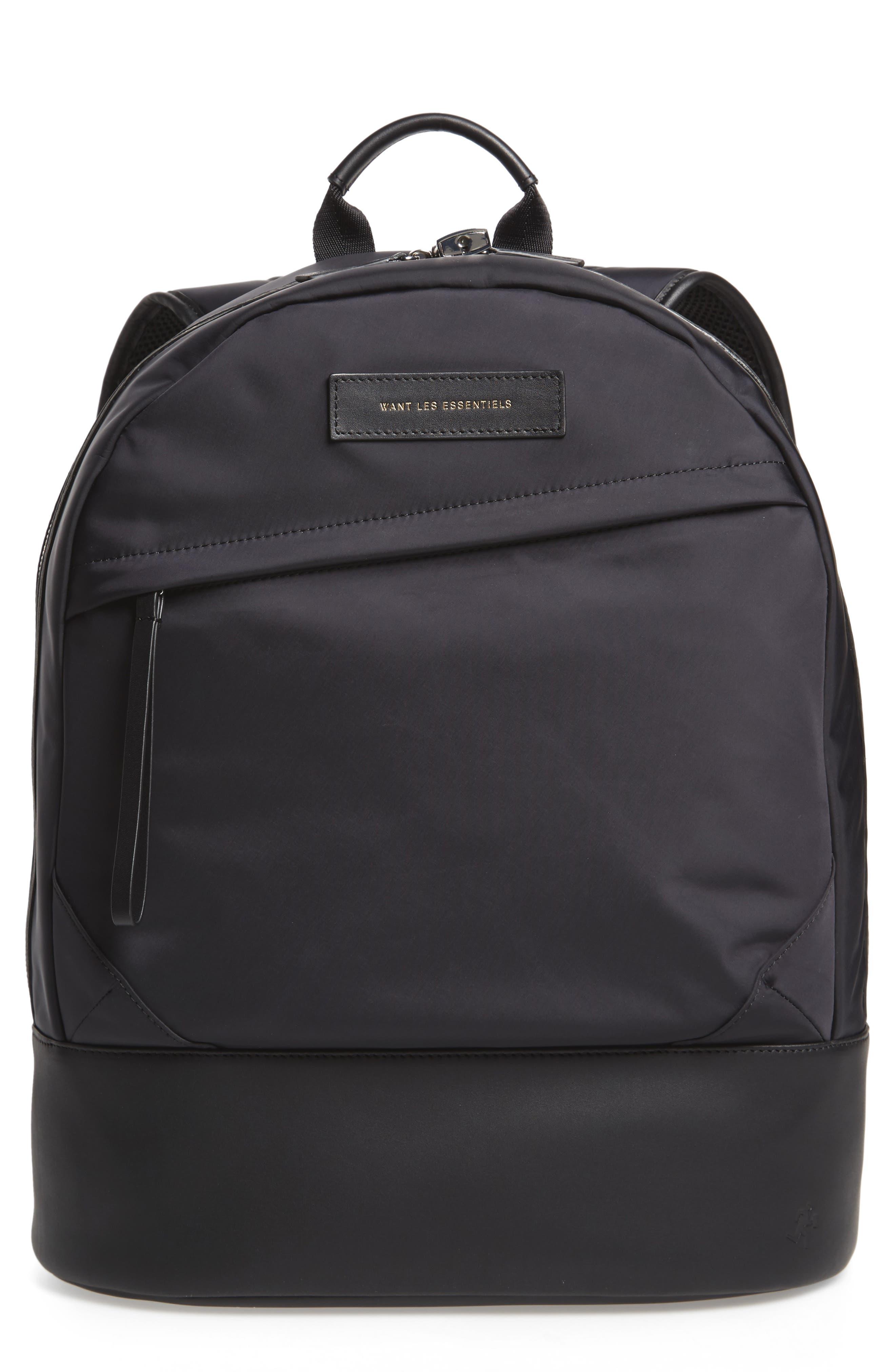 'Kastrup' Backpack,                         Main,                         color, BLACK NYLON