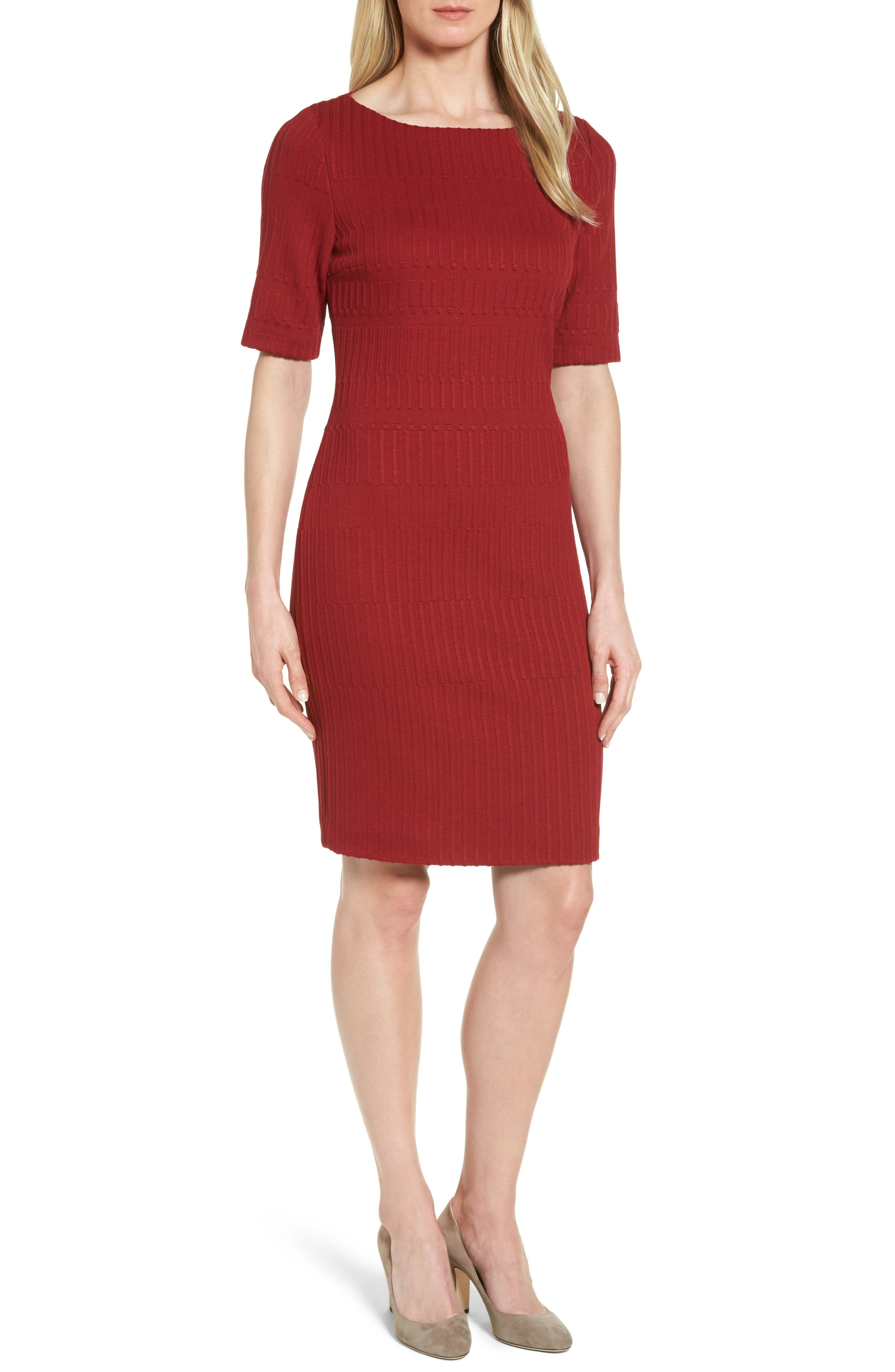 Hadea Knit Sheath Dress,                             Main thumbnail 1, color,                             619