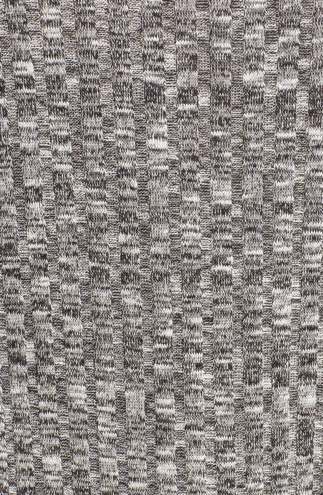 BOBEAU,                             Cold Shoulder Ribbed Sweater,                             Alternate thumbnail 4, color,                             014